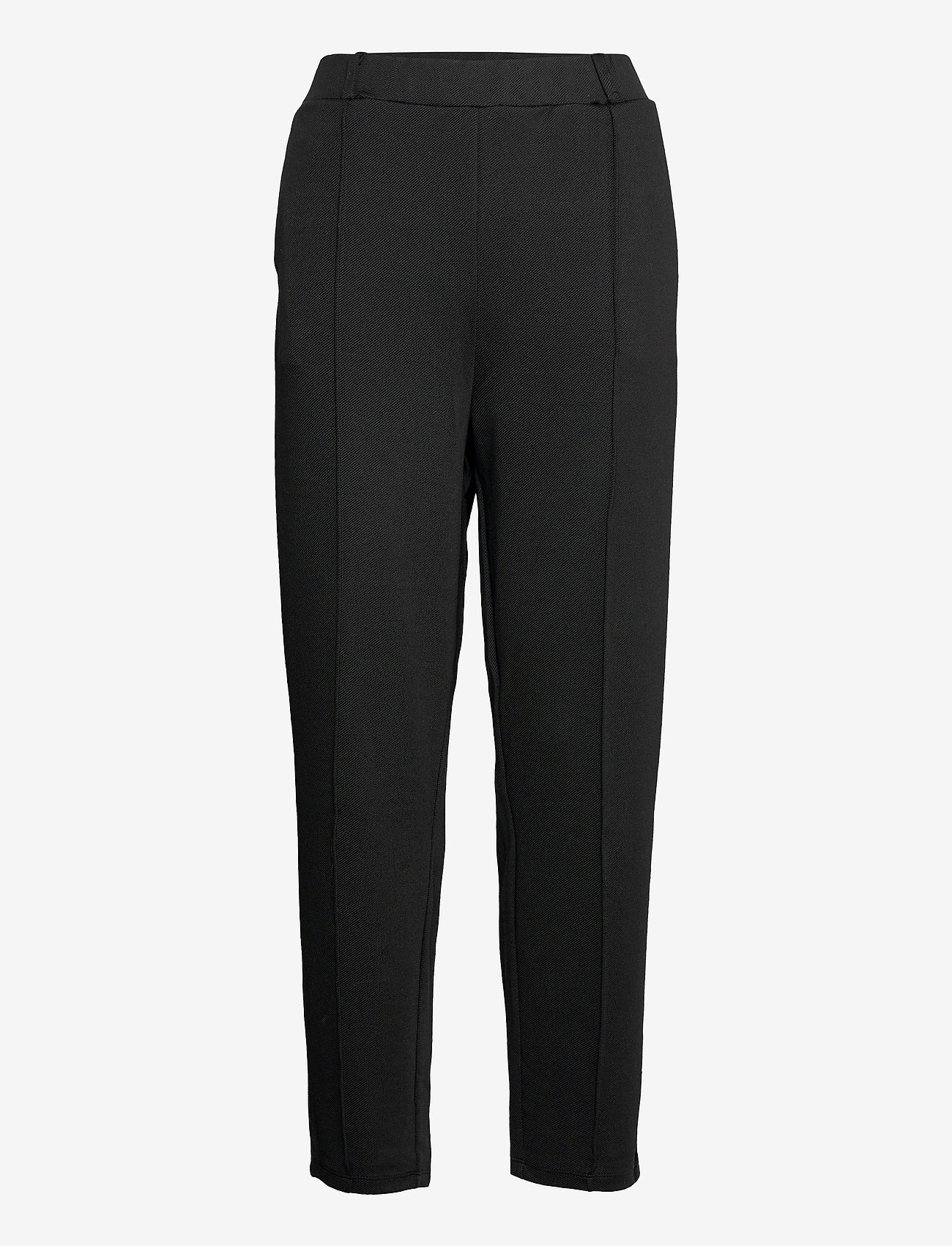 Lindex - Trousers Karin twill - pantalons droits - black - 0