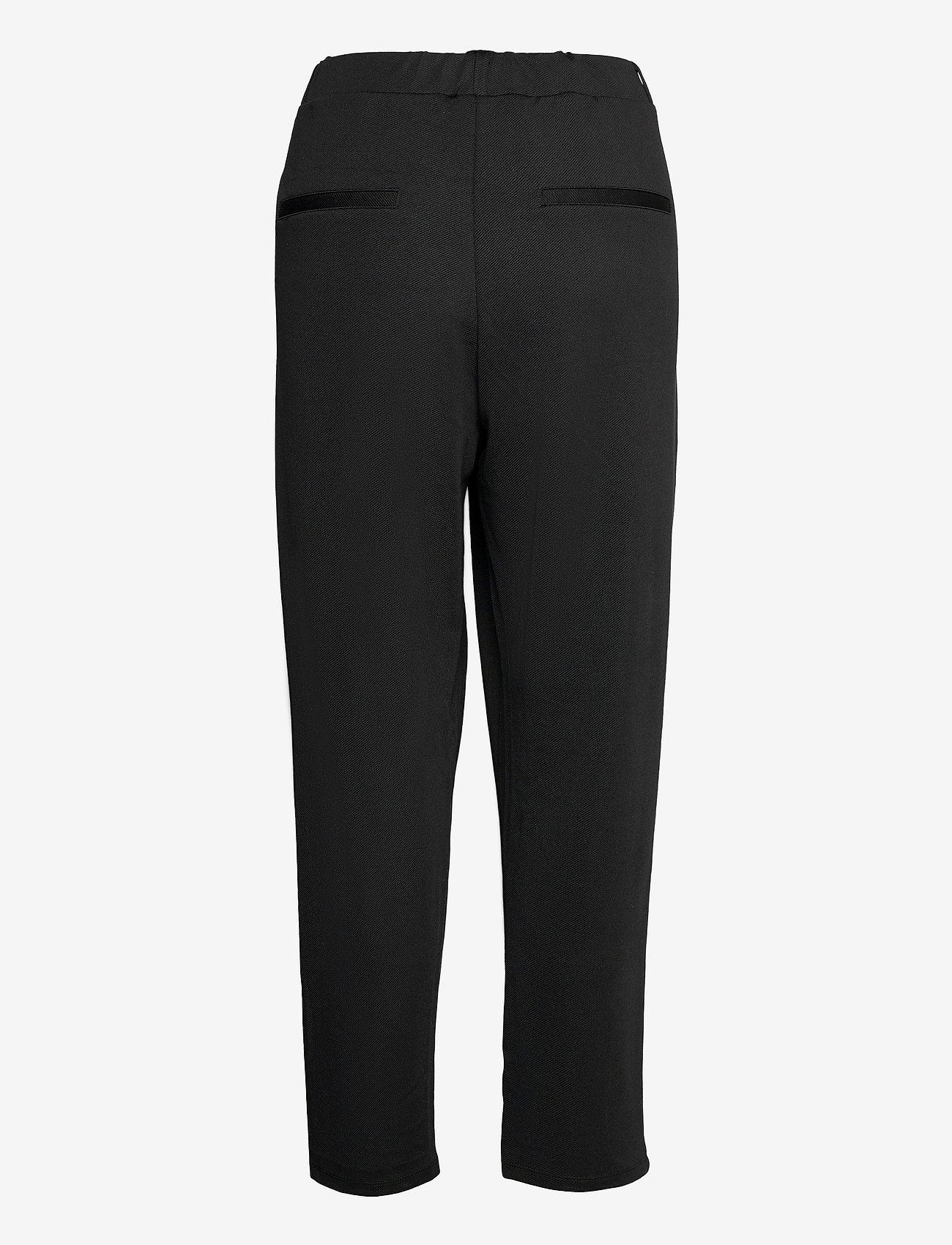 Lindex - Trousers Karin twill - pantalons droits - black - 1