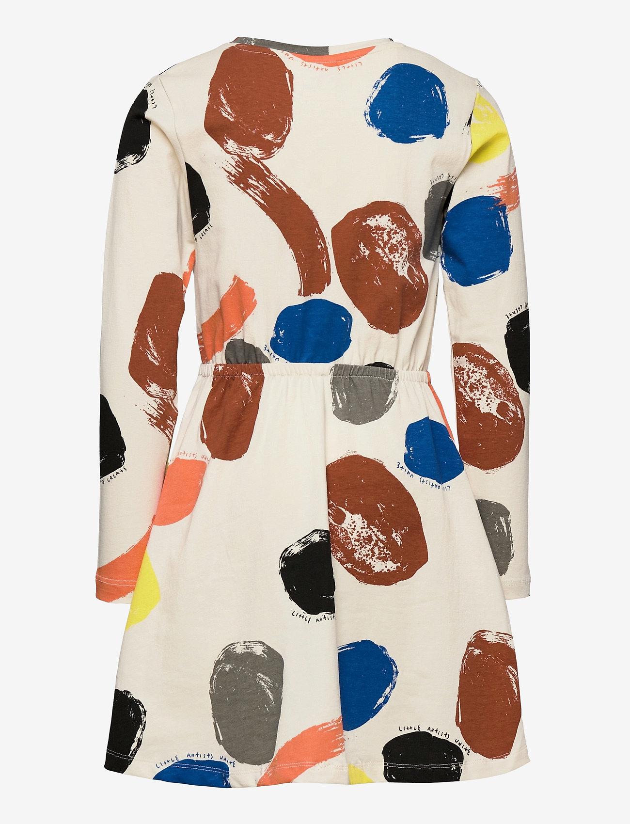 Lindex - Dress little artist AOP - kleider - beige - 1