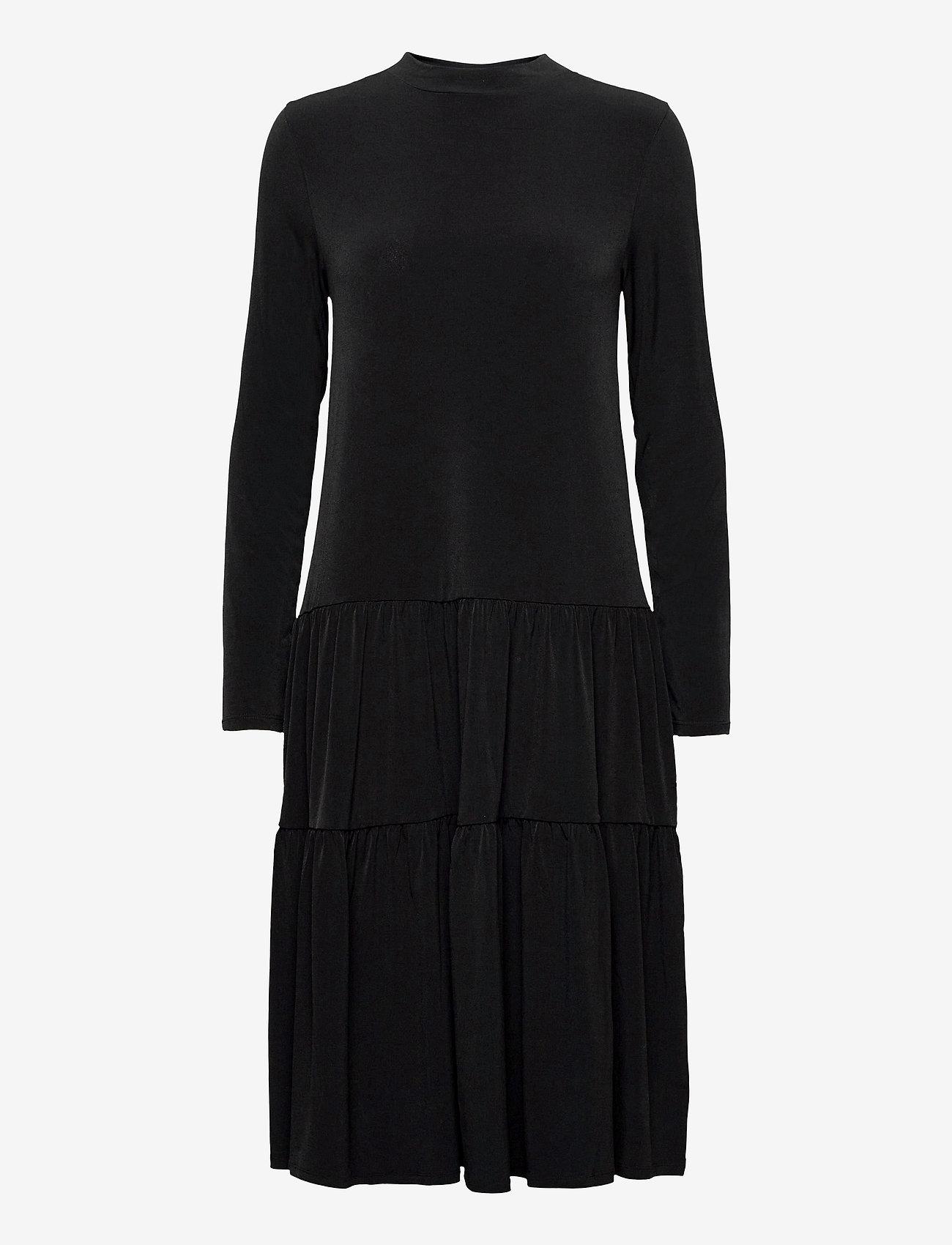 Lindex - Dress Isa Flosh - robes d'été - black - 0