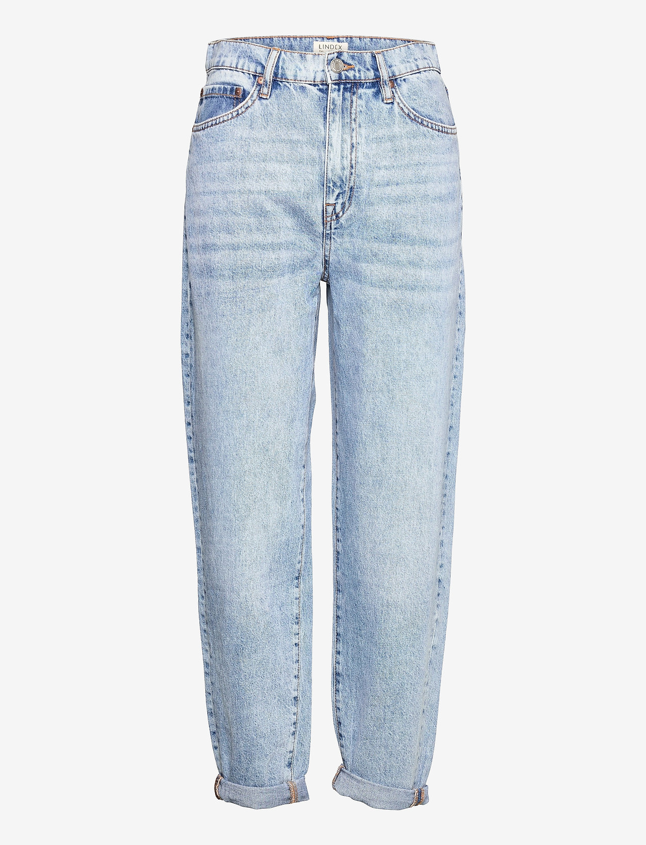Lindex - Trousers denim Pam blue - mom-jeans - blue - 0