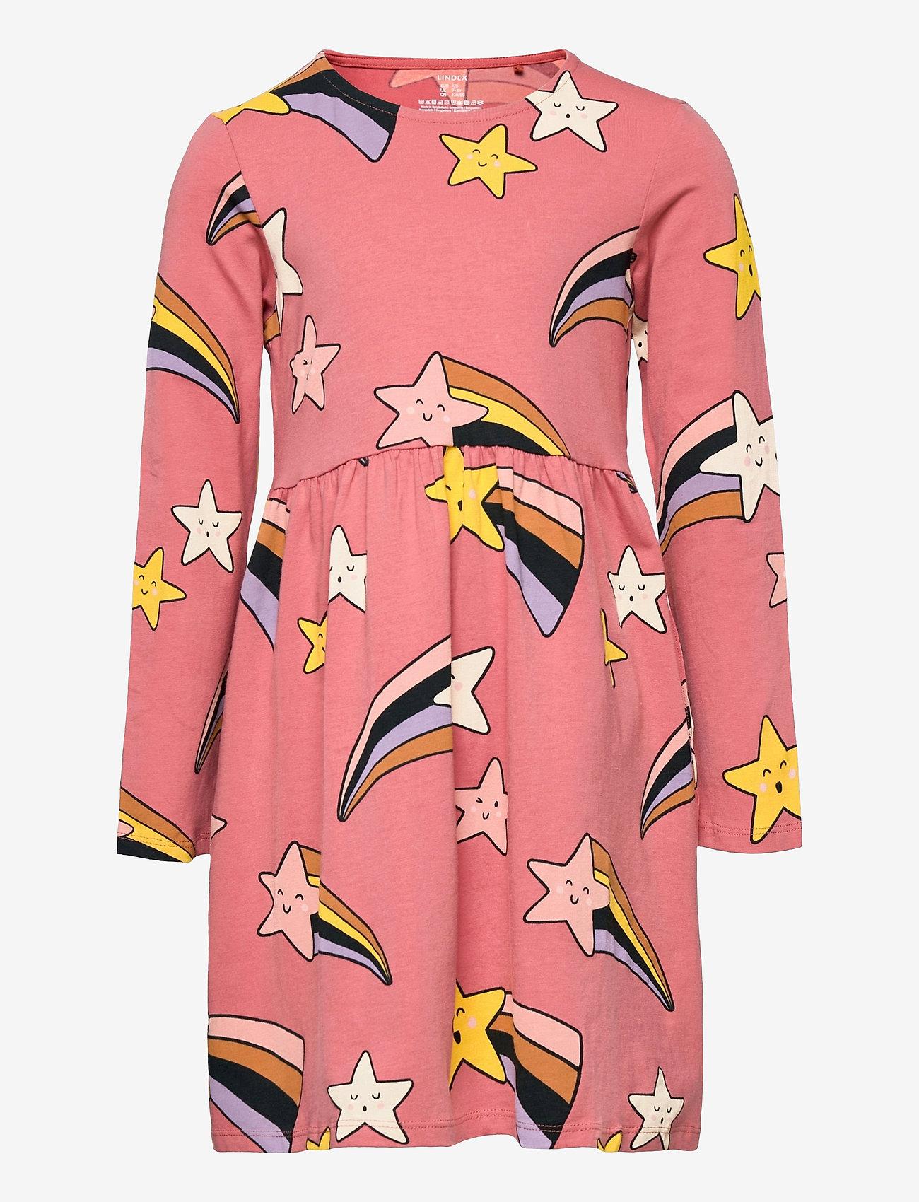 Lindex - Dress Shooting Stars - kleider - coral - 0