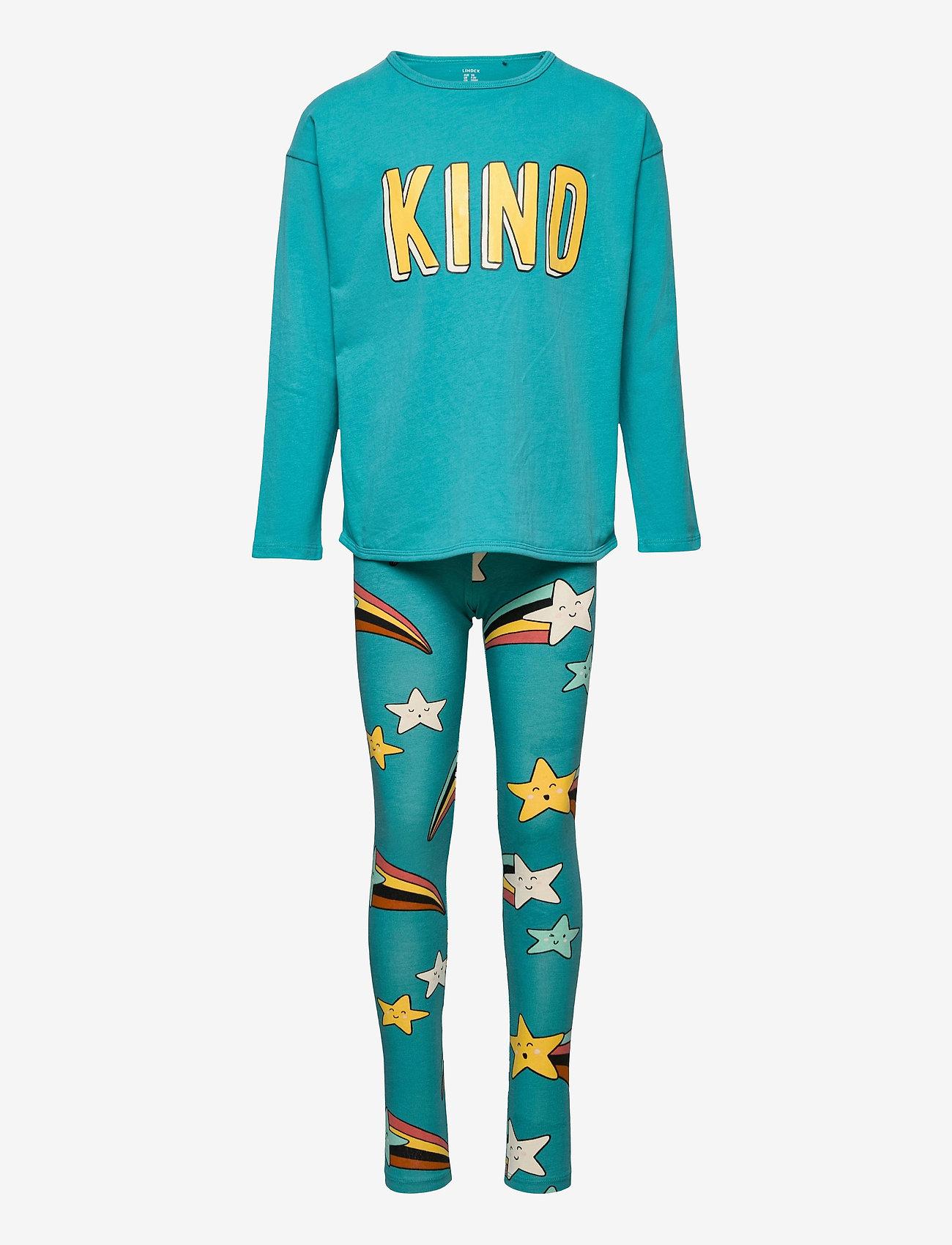 Lindex - Top   leggings SET  KIND - 2-delige sets - turquoise - 0