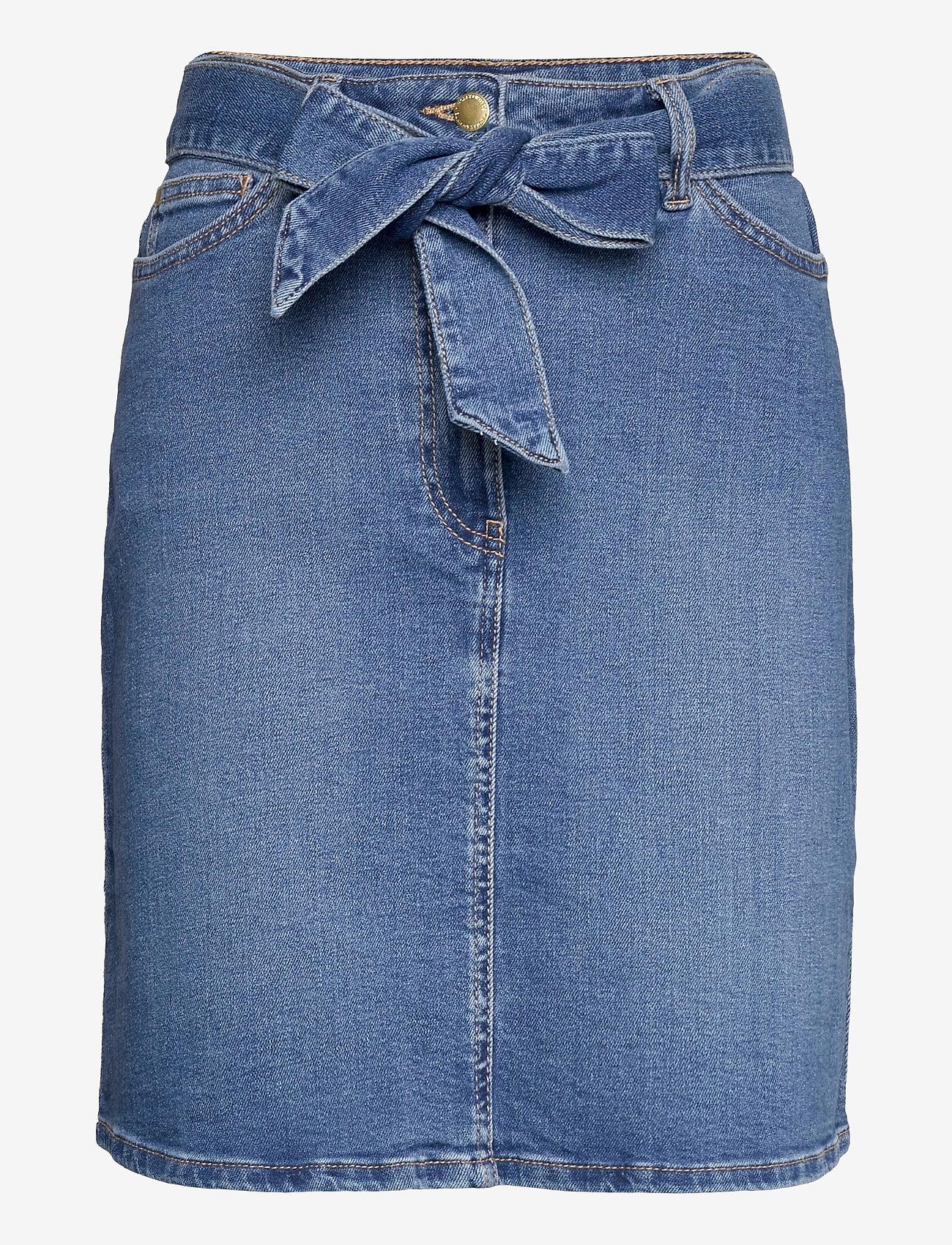 Lindex - Skirt Carina denim - jeanskjolar - blue - 0