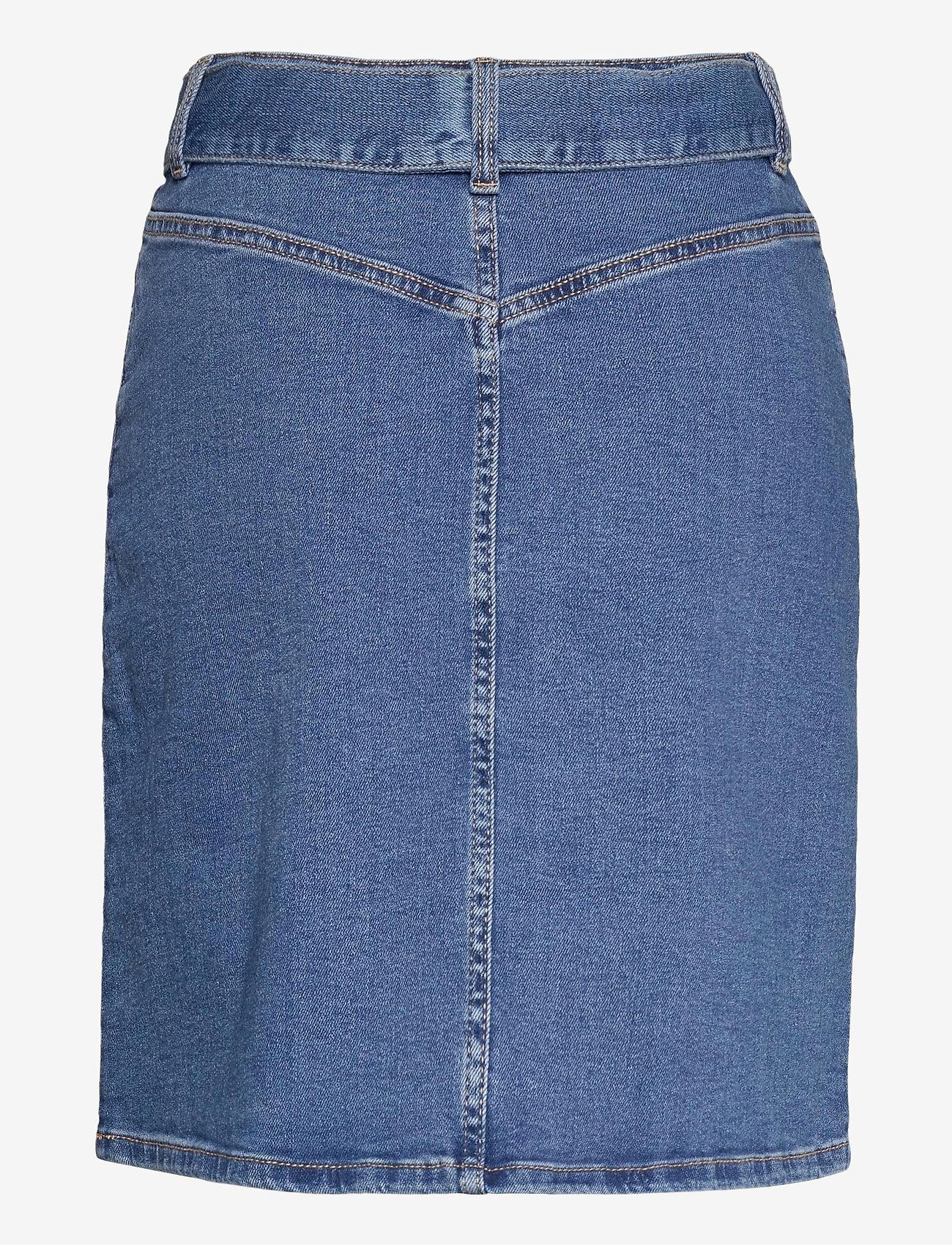 Lindex - Skirt Carina denim - jeanskjolar - blue - 1