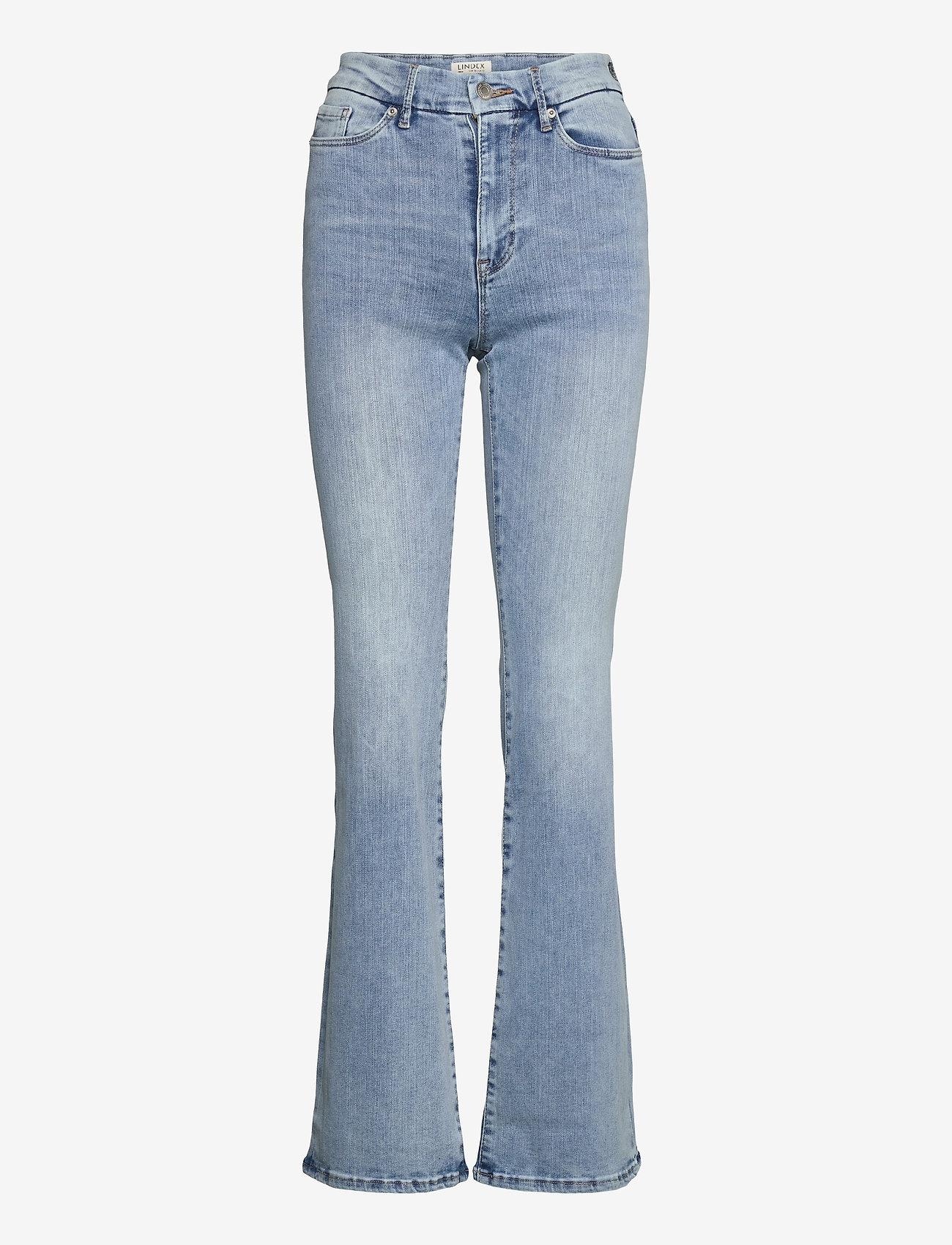 Lindex - Denim trousers Mira lt blue - schlaghosen - blue - 0