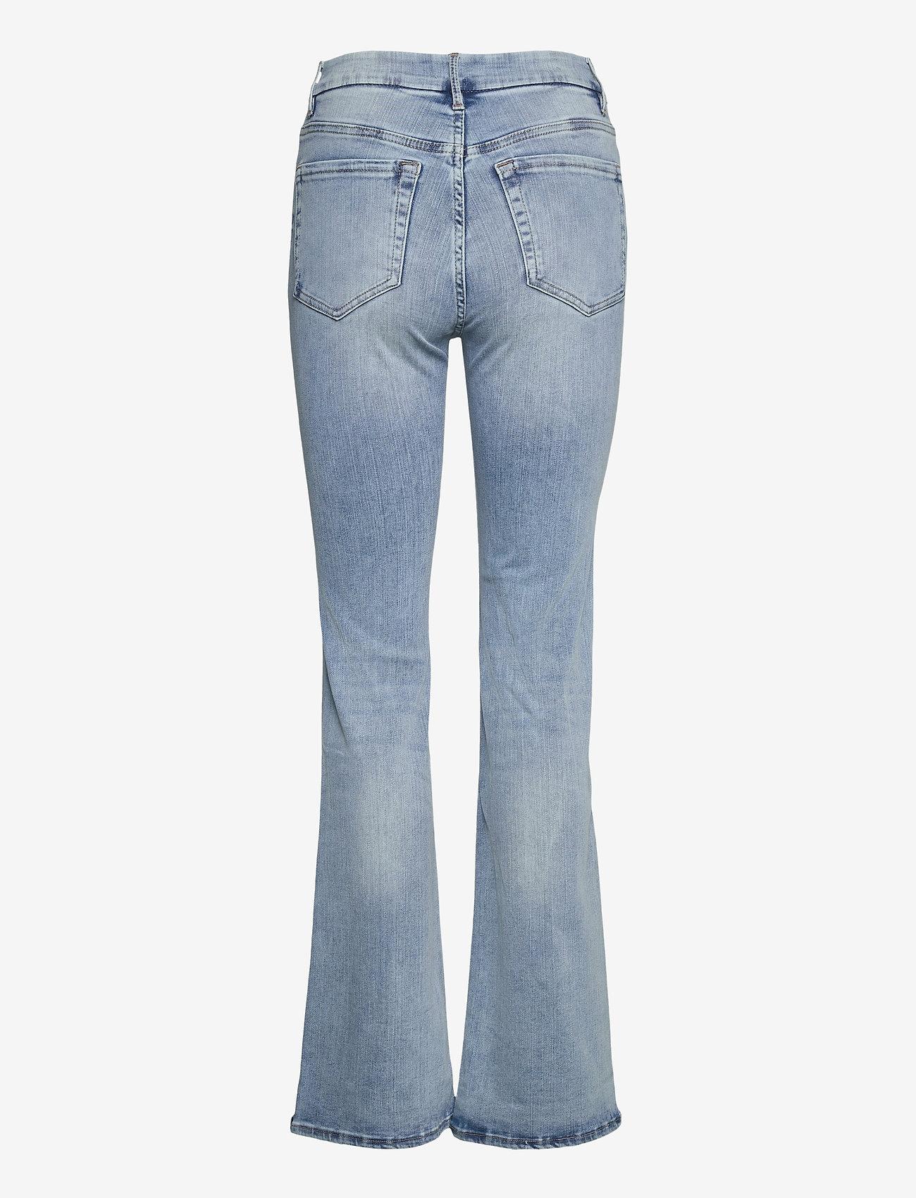 Lindex - Denim trousers Mira lt blue - schlaghosen - blue - 1