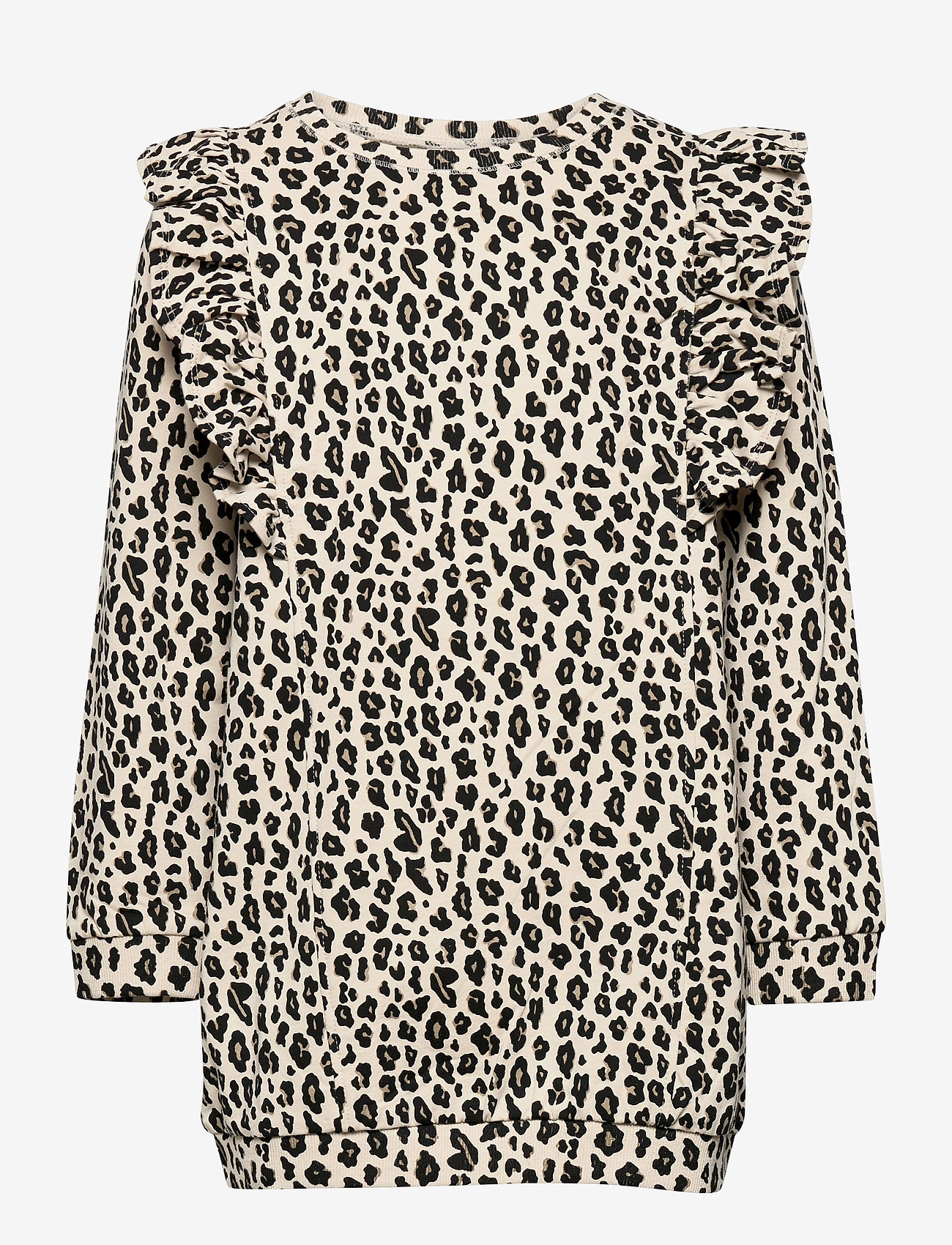 Lindex - Top long stylish leo print - blouses & tunieken - beige - 0