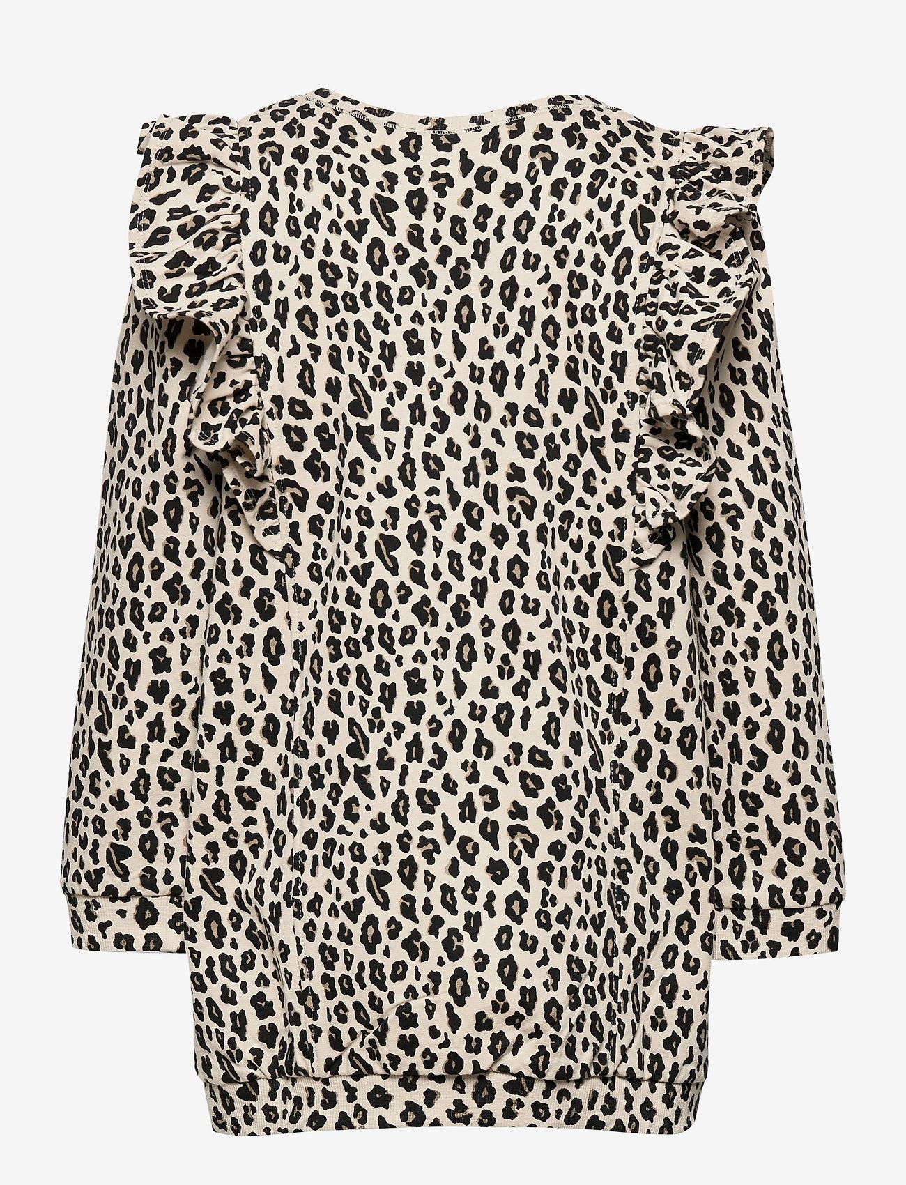 Lindex - Top long stylish leo print - blouses & tunieken - beige - 1