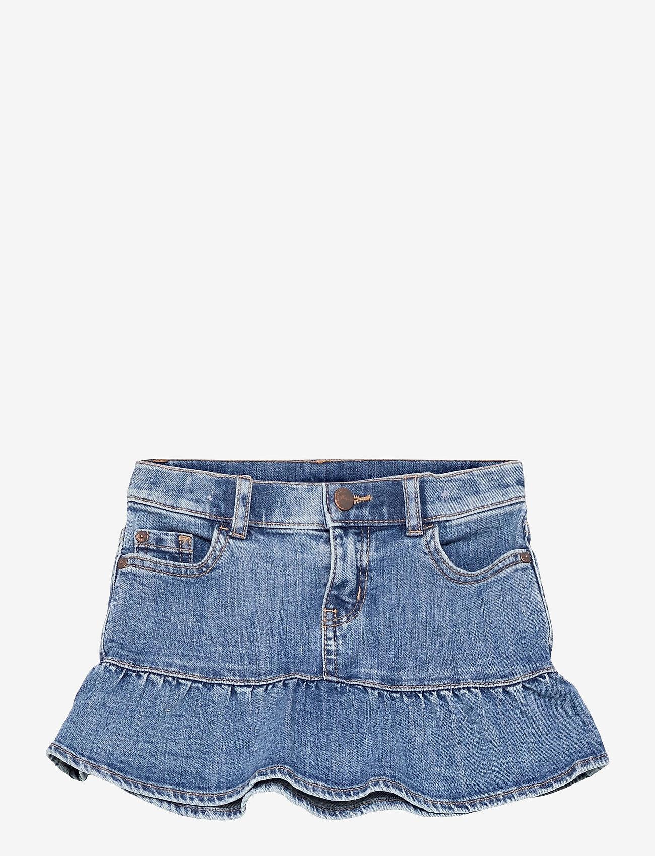 Lindex - Skirt denim Wilma - röcke - blue - 0