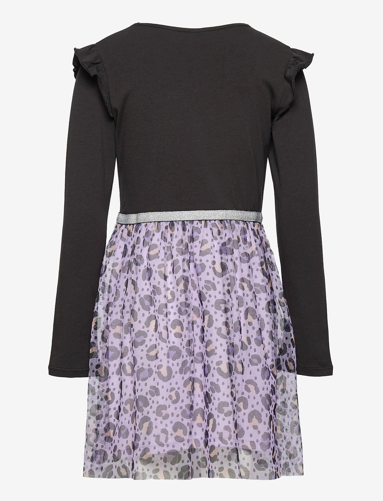 Lindex - Dress l s with leo mesh skirt - kleider - lilac - 1