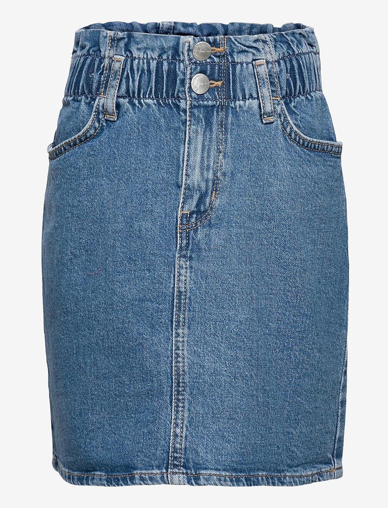Lindex - Skirt denim Taylor - röcke - blue - 0