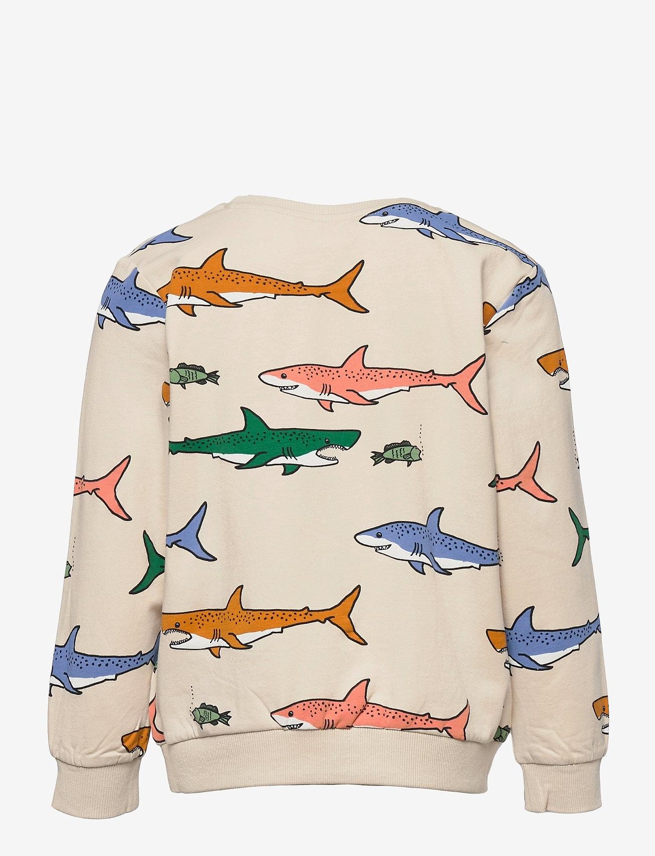 Lindex - Sweater AOP Shark - sweatshirts - black - 1