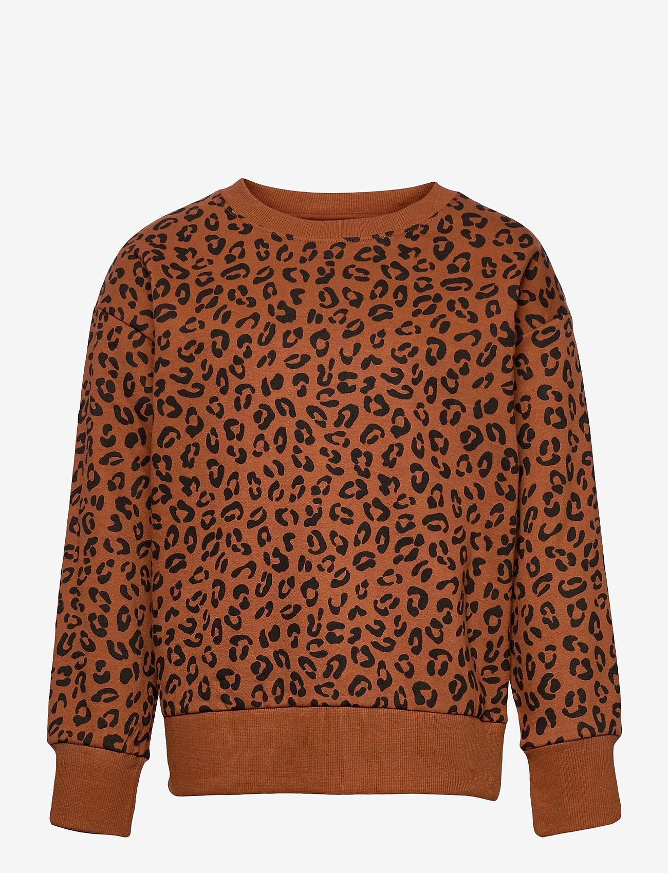 Lindex - Sweater Leo AOP street online - sweatshirts - brown - 0
