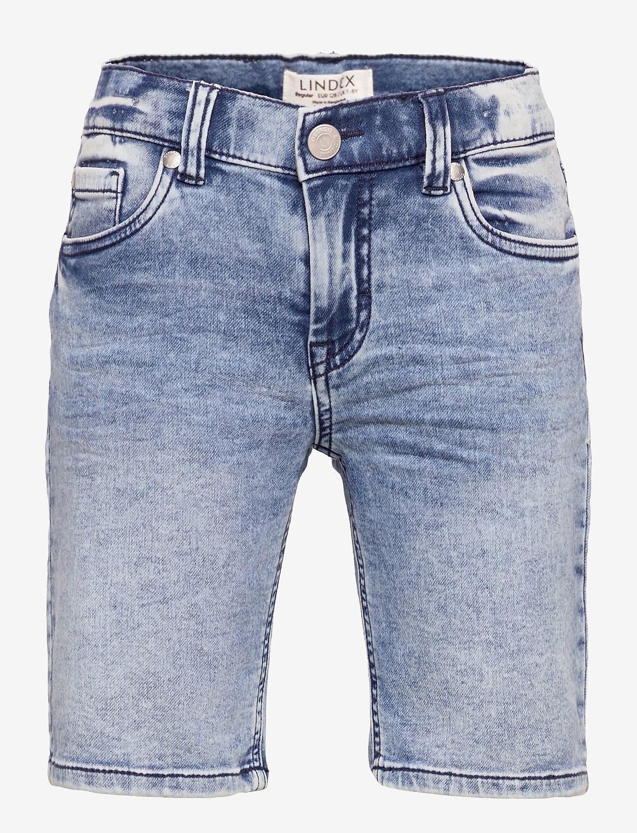 Lindex - Shorts denim Jerry jersey regu - shorts - blue - 0