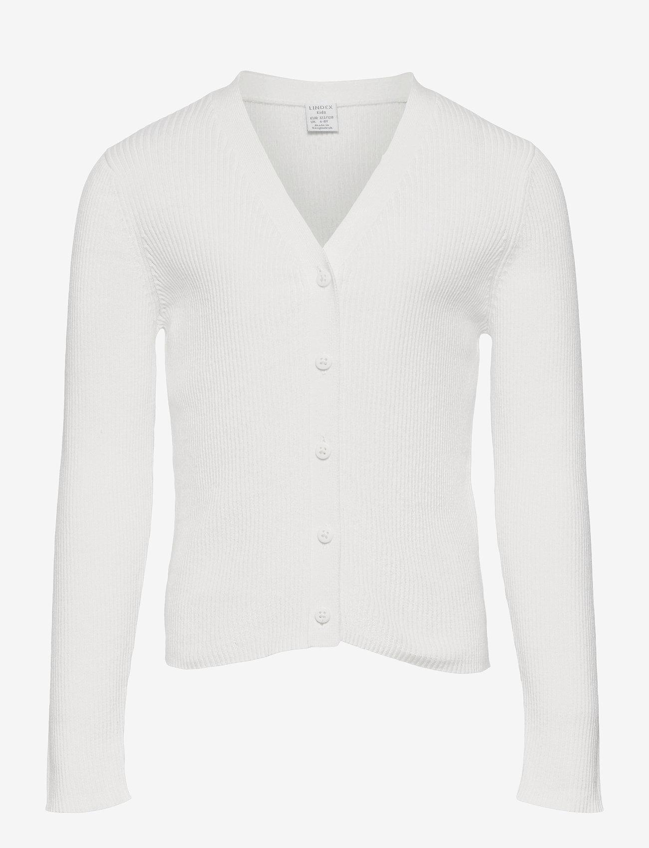 Lindex - Cardigan Vneck - gilets - white - 0