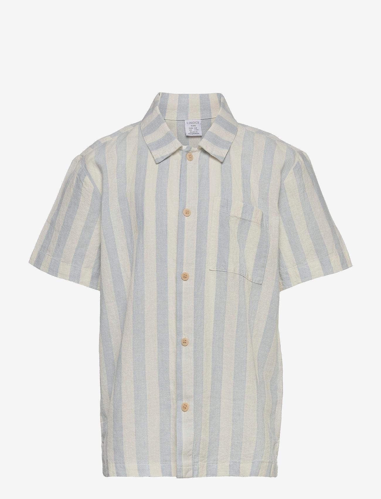 Lindex - Shirt shortsleeved  linen cott - shirts - white - 0