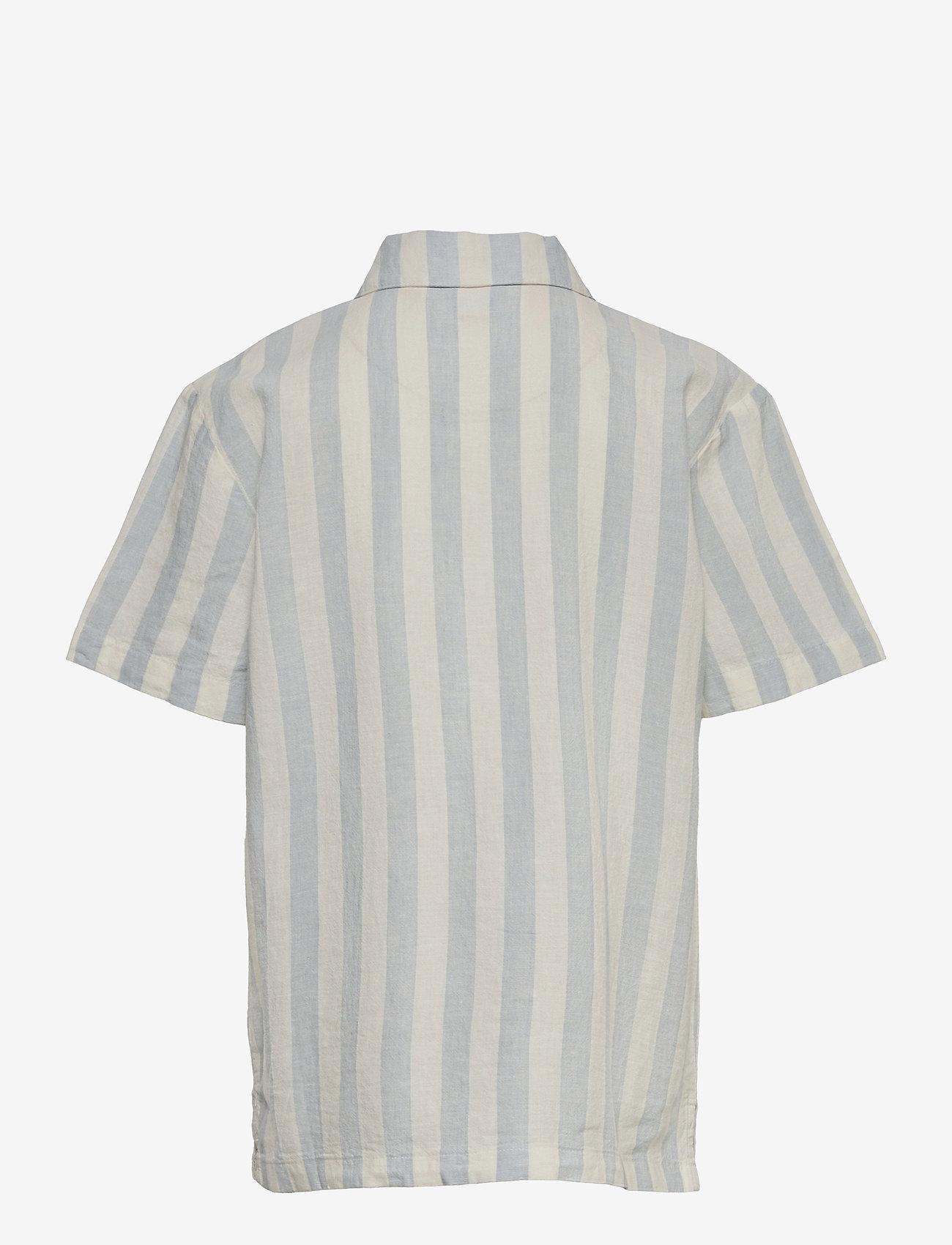 Lindex - Shirt shortsleeved  linen cott - shirts - white - 1