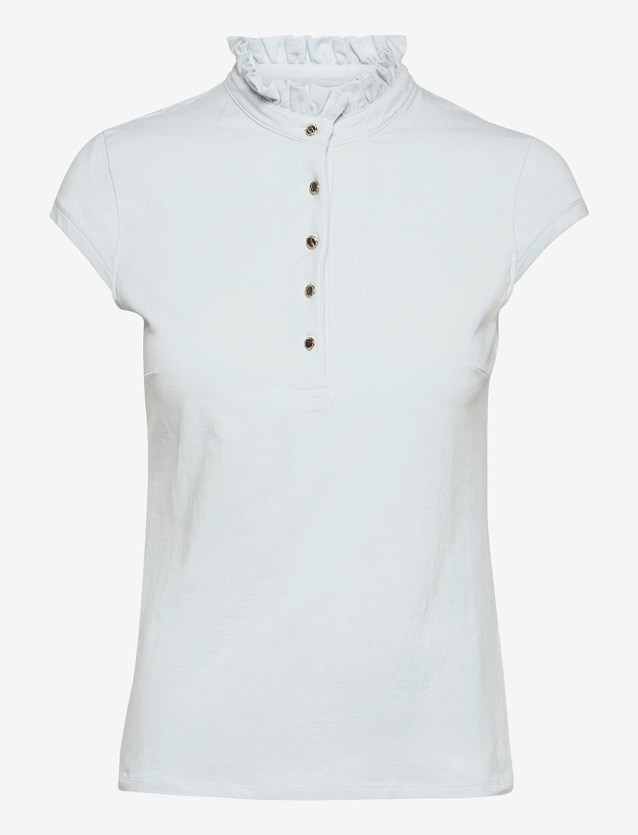 Lindex - Top Tilde Short Sleeve - t-shirts - blue - 0