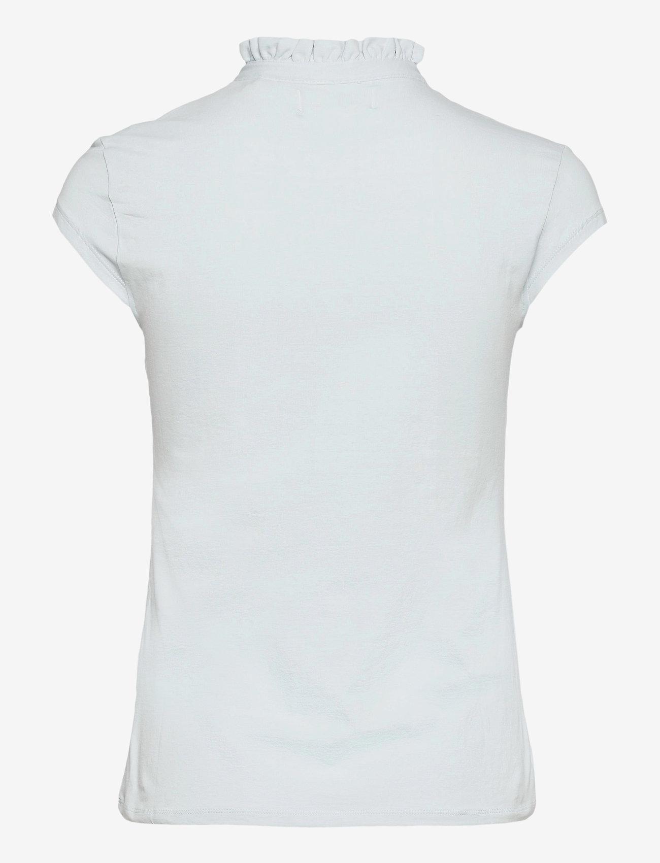 Lindex - Top Tilde Short Sleeve - t-shirts - blue - 1