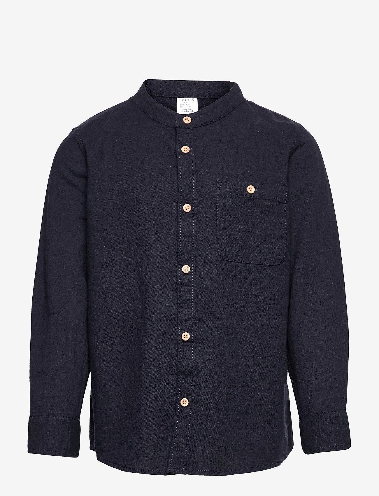 Lindex - Shirt Linen - shirts - blue - 0