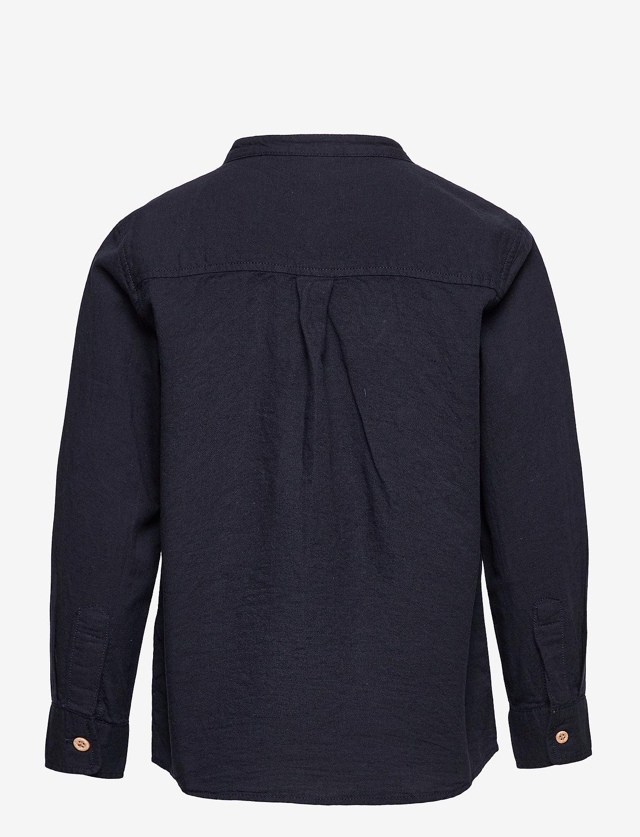 Lindex - Shirt Linen - shirts - blue - 1