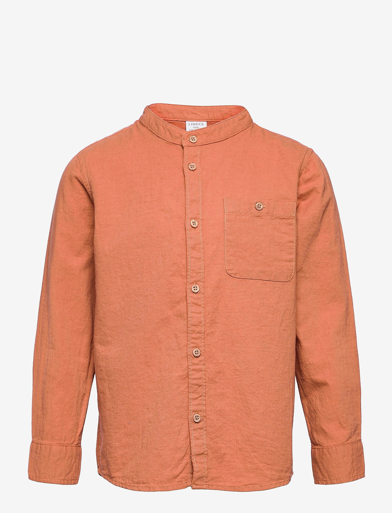 Lindex - Shirt Linen - shirts - brown - 0