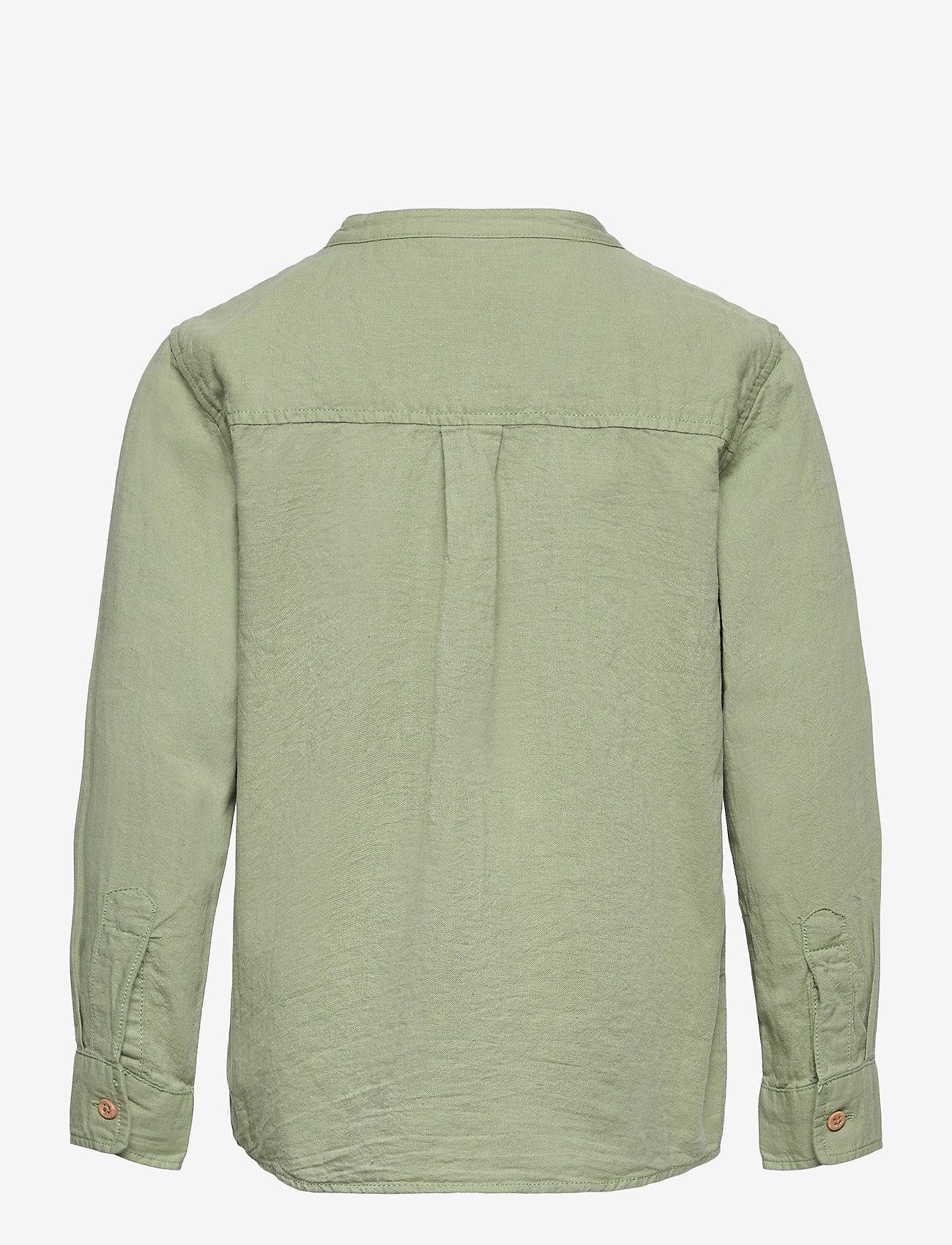 Lindex - Shirt Linen - shirts - green - 1