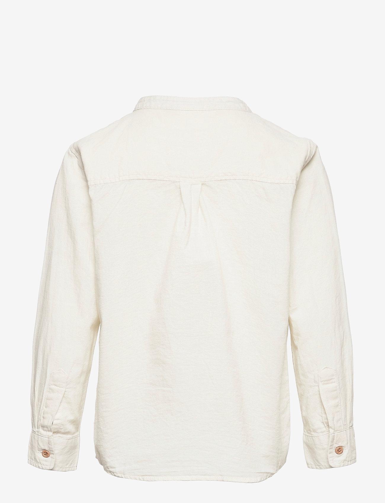 Lindex - Shirt Linen - shirts - white - 1