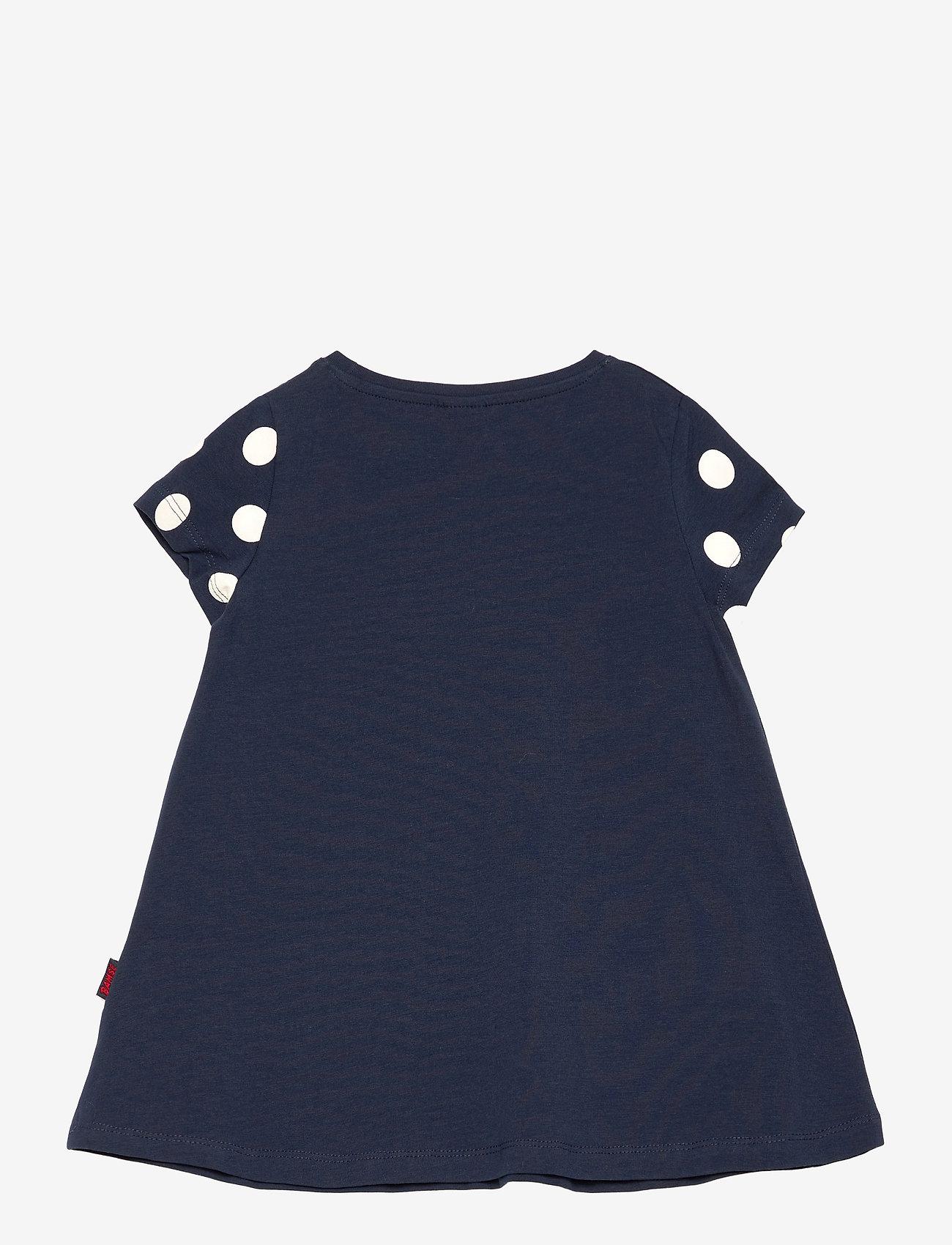 Lindex - Top long Bamse s s pockets - kleider - blue - 1
