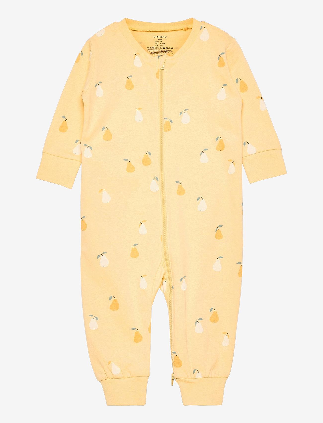 Lindex - Pyjamas pear aop - langärmelig - yellow - 0