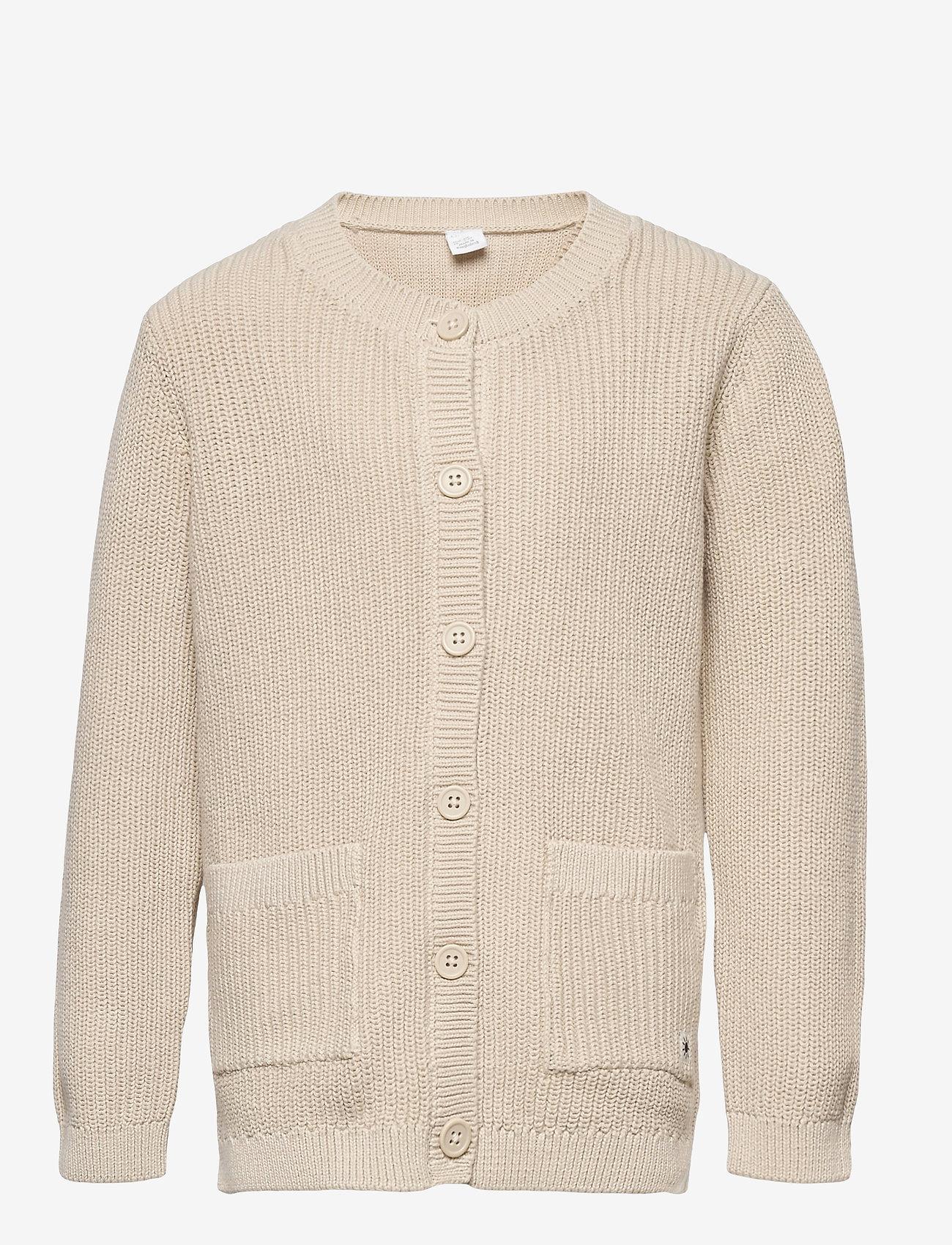 Lindex - Cardigan Patent knit - gilets - beige - 0