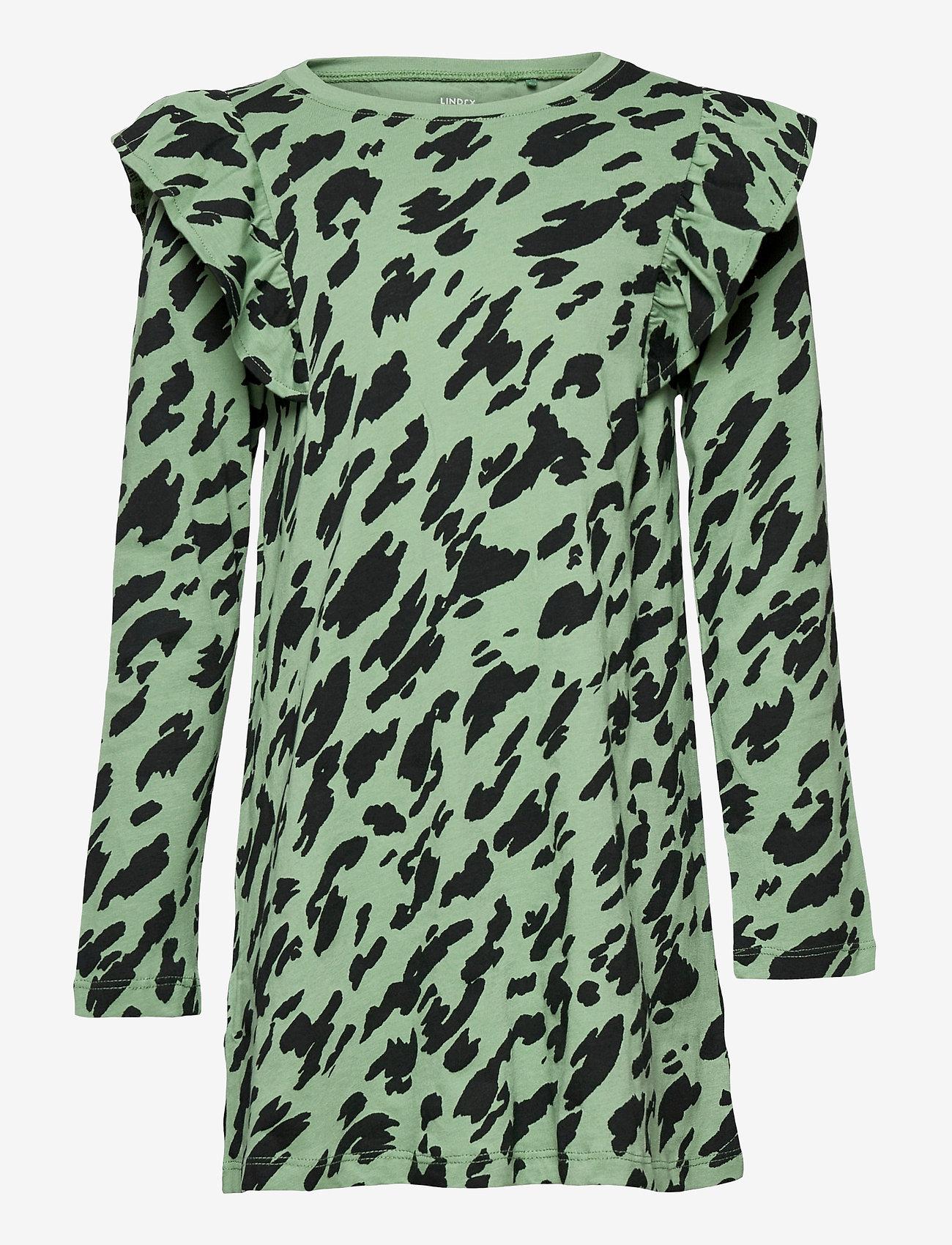 Lindex - Top long basic - langærmede - green - 0