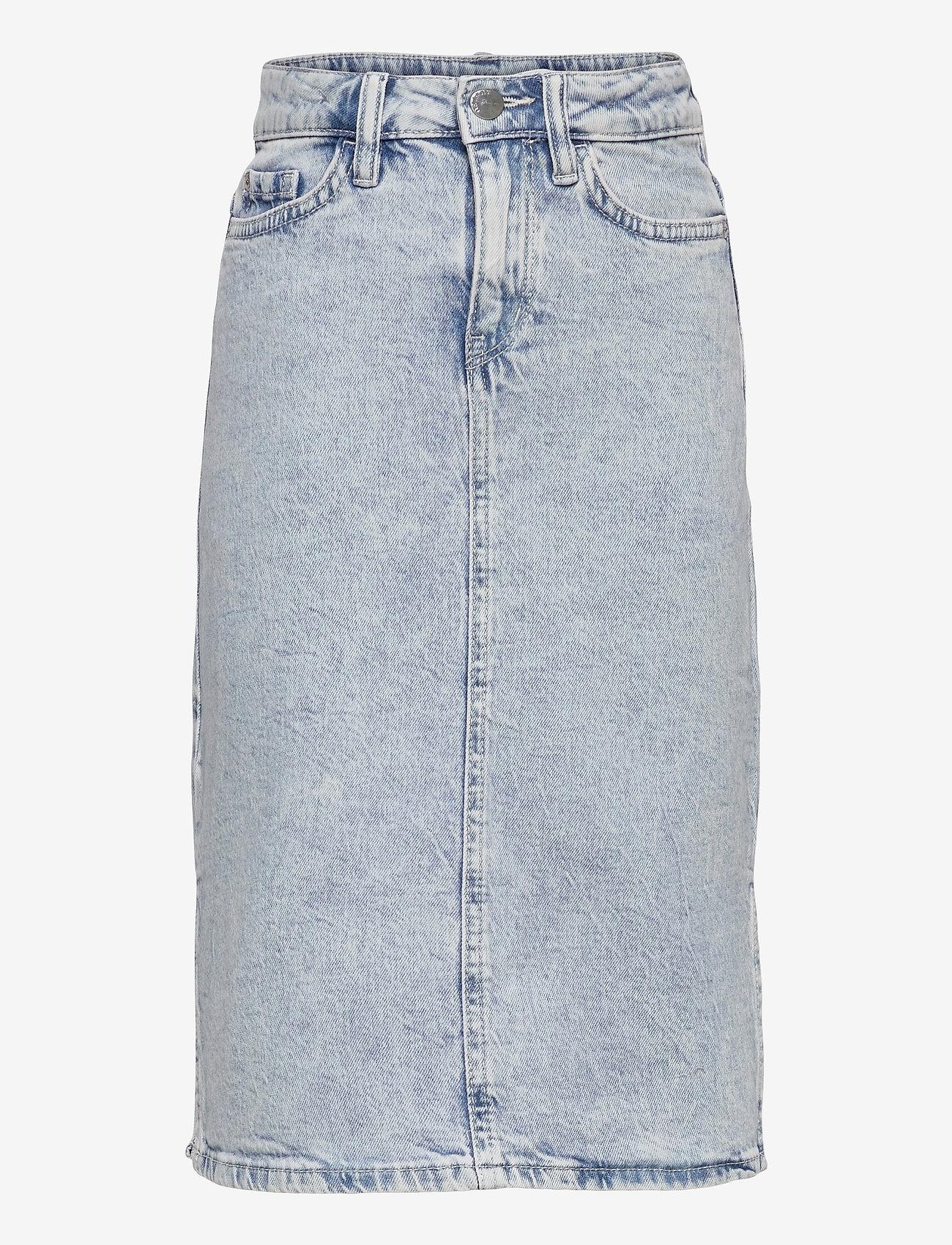 Lindex - Skirt denim Riley - röcke - blue - 0