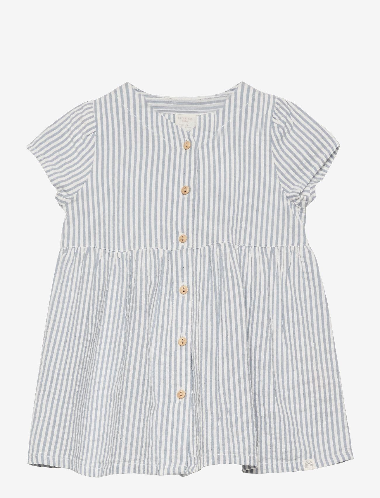Lindex - Dress seersucker - kleider - blue - 0