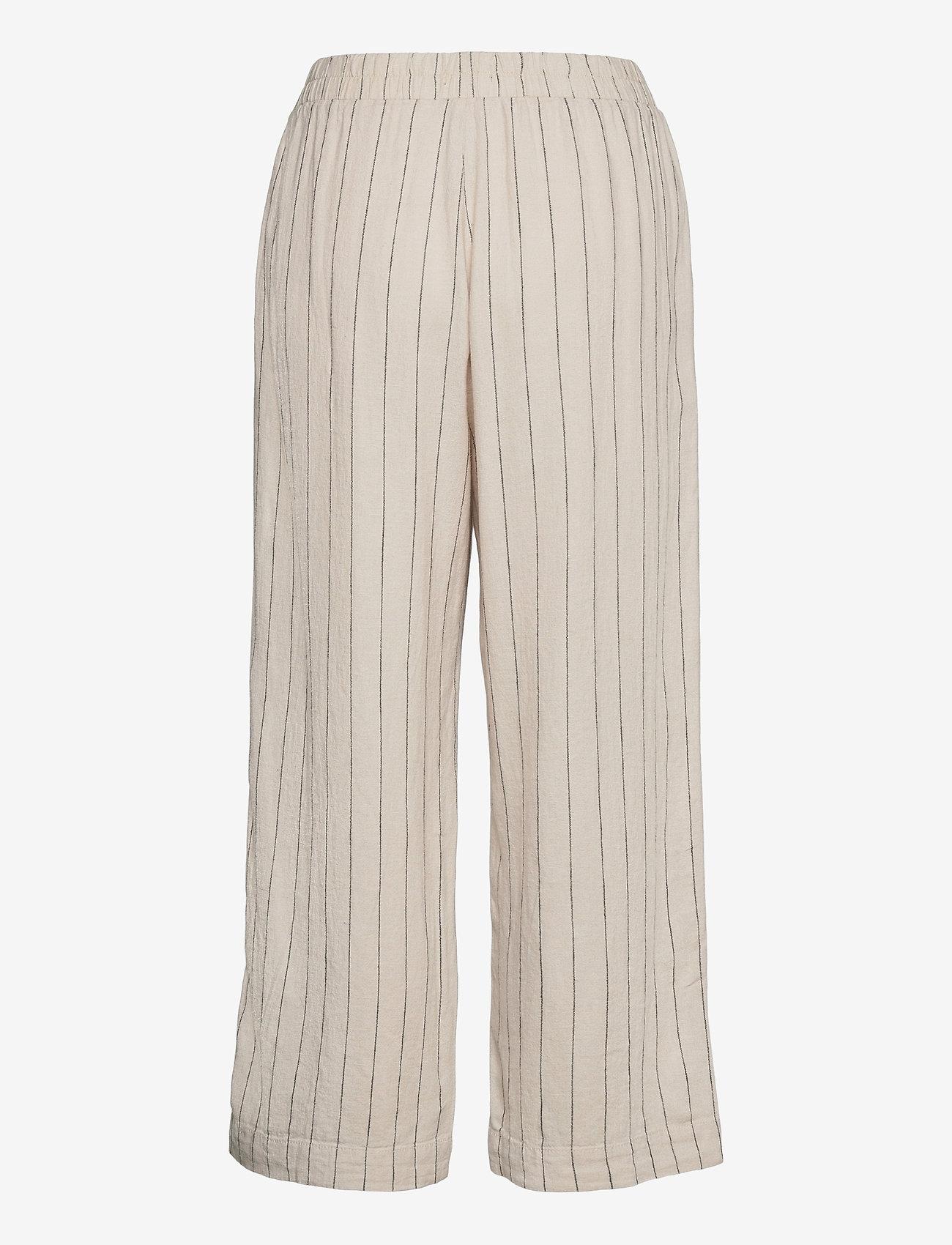 Lindex - Trouser Bella linen - bukser med brede ben - beige - 1