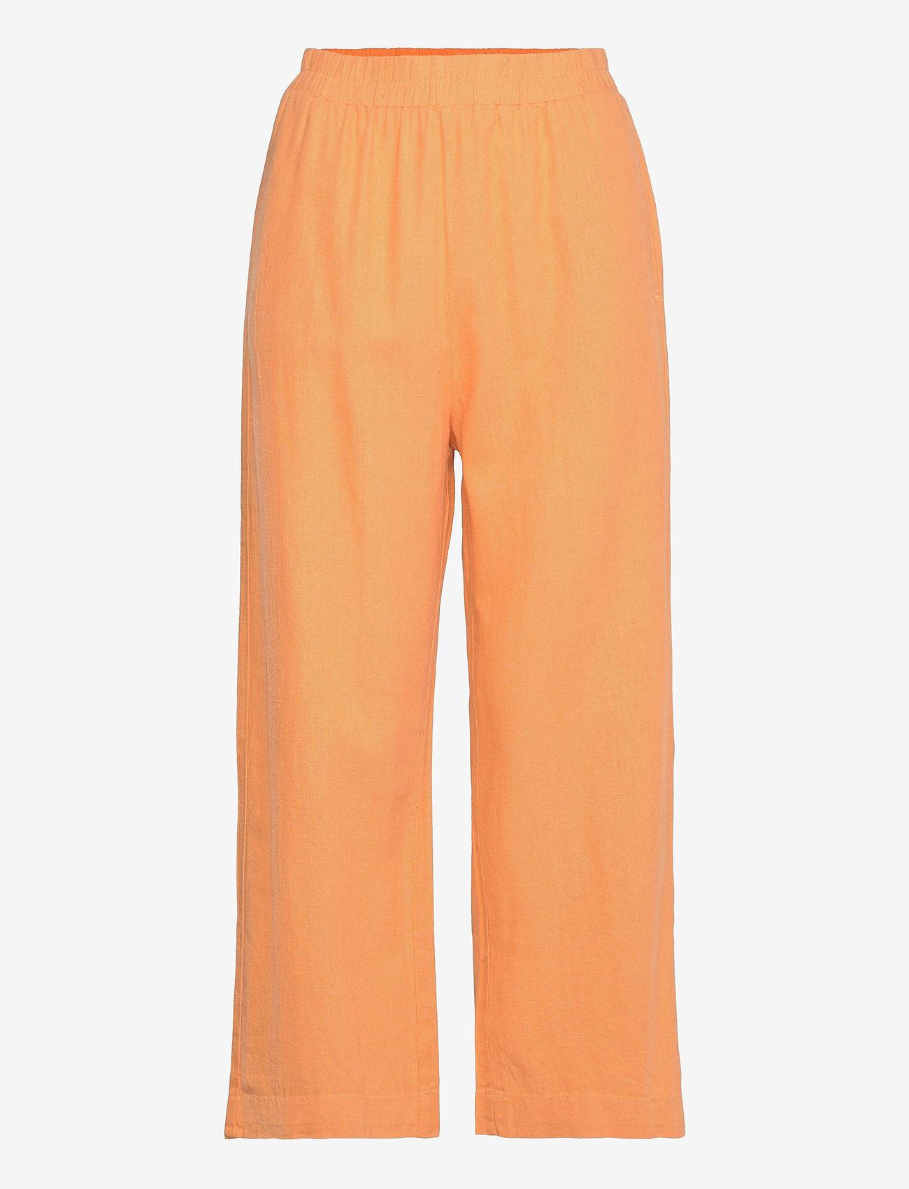 Lindex - Trouser Bella linen - bukser med brede ben - orange - 0