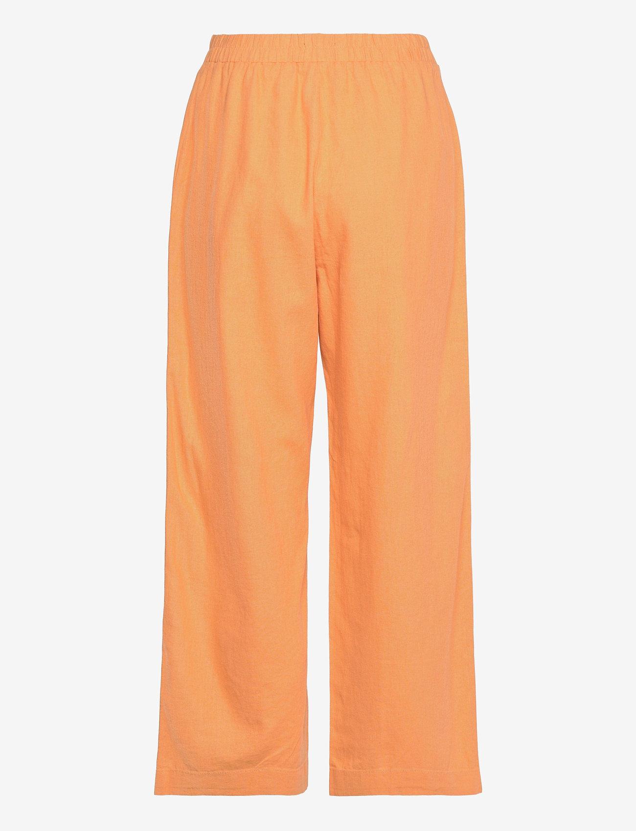 Lindex - Trouser Bella linen - bukser med brede ben - orange - 1