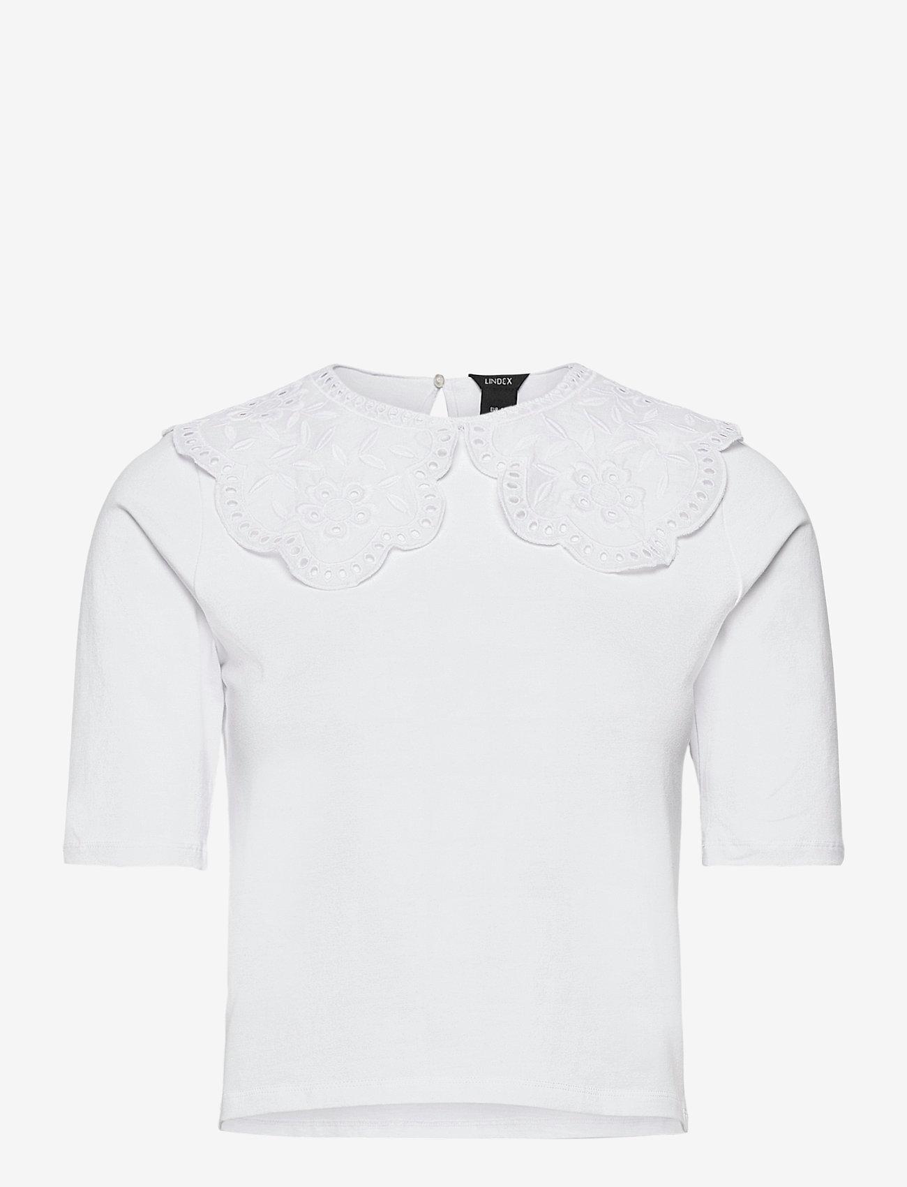 Lindex - Top Amalia - t-shirts - white - 0