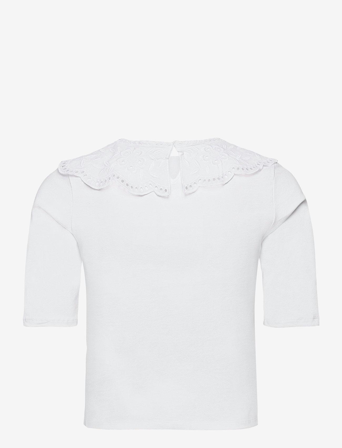 Lindex - Top Amalia - t-shirts - white - 1