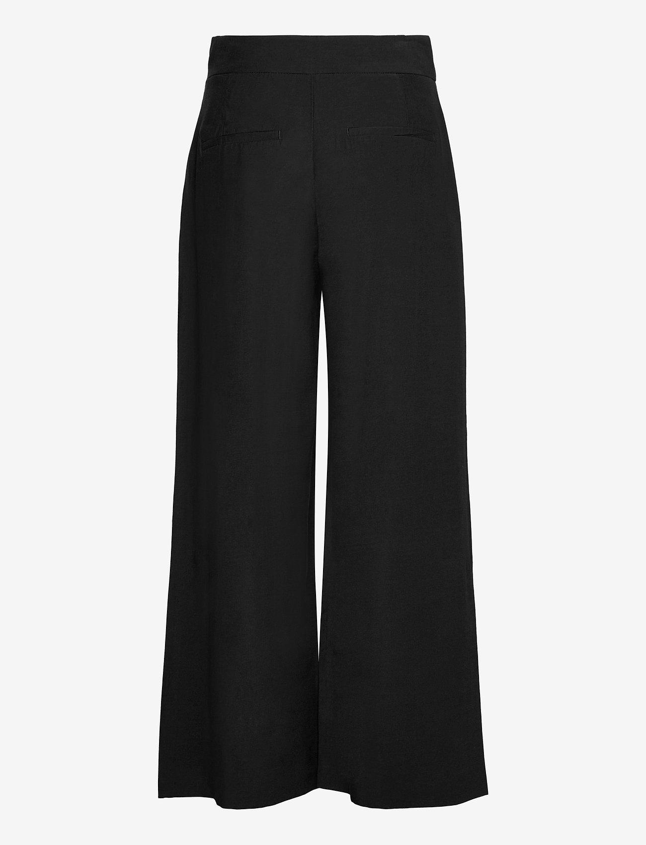 Lindex - Trouser Sanna cropped - bukser med brede ben - black - 1