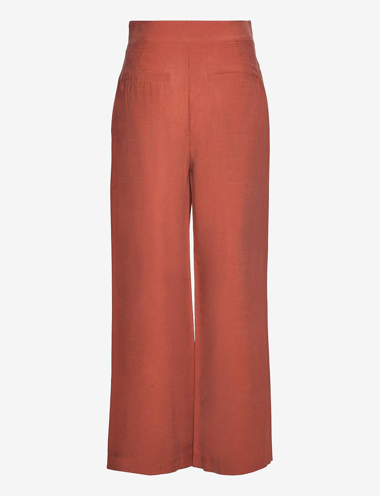 Lindex - Trouser Sanna cropped - bukser med brede ben - red - 1