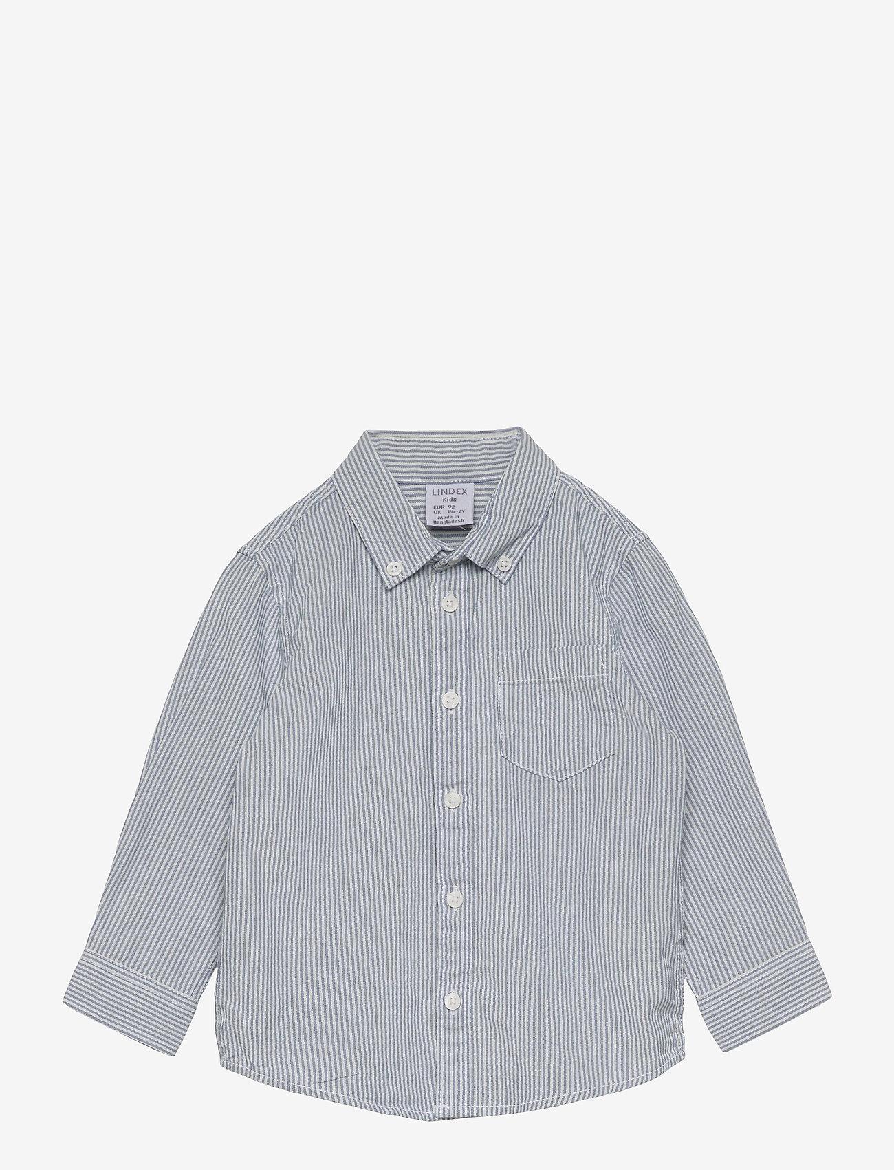 Lindex - Shirt Blue stripe - shirts - white - 0