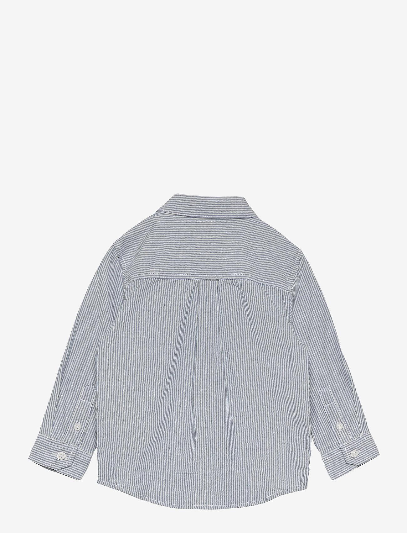 Lindex - Shirt Blue stripe - shirts - white - 1