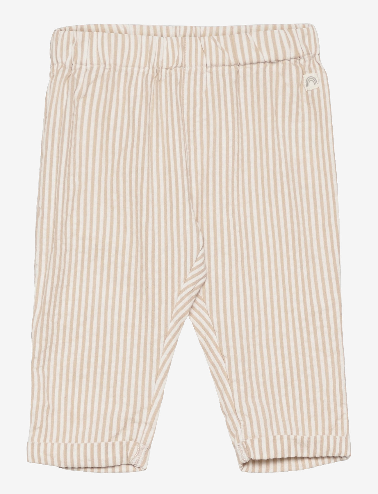 Lindex - Trouser woven seersucker - trousers - beige - 0