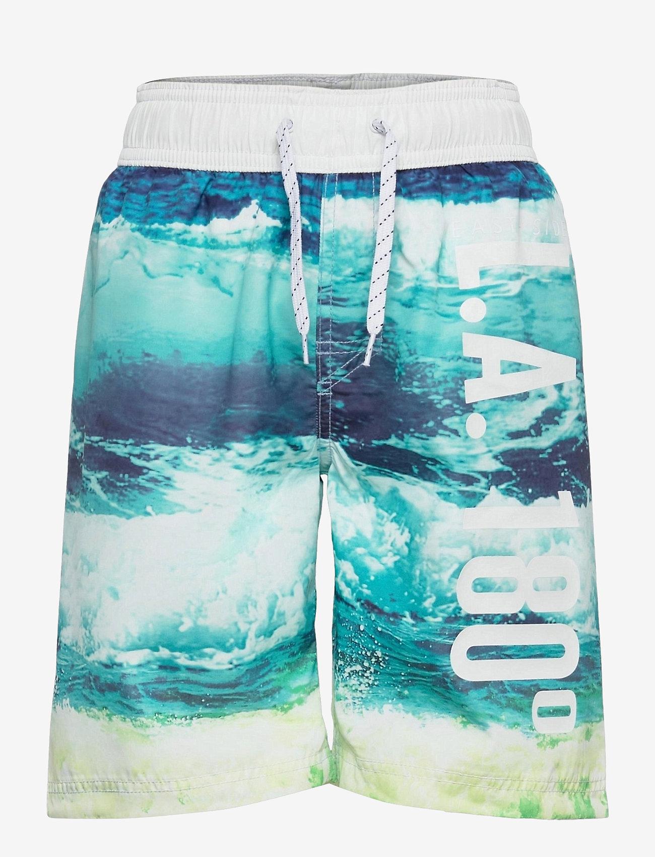 Lindex - Swimshorts BB Wave - badehosen - blue - 0
