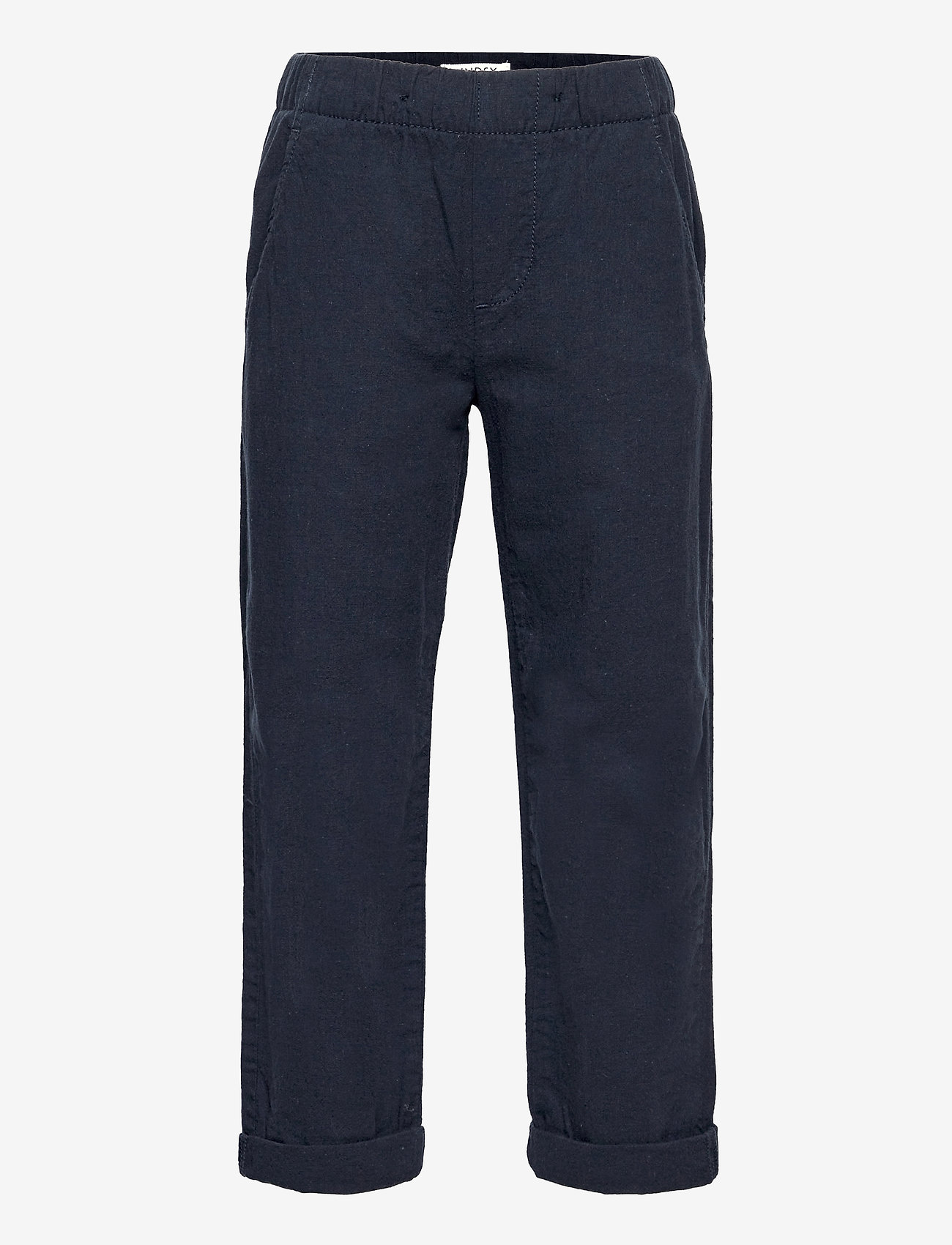 Lindex - Trousers Linnen - trousers - blue - 0