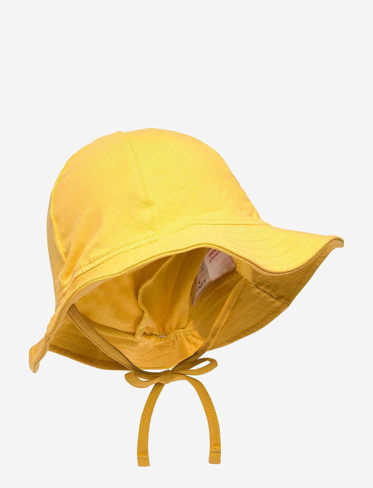 Lindex - Sun hat jersey - solhat - yellow - 0