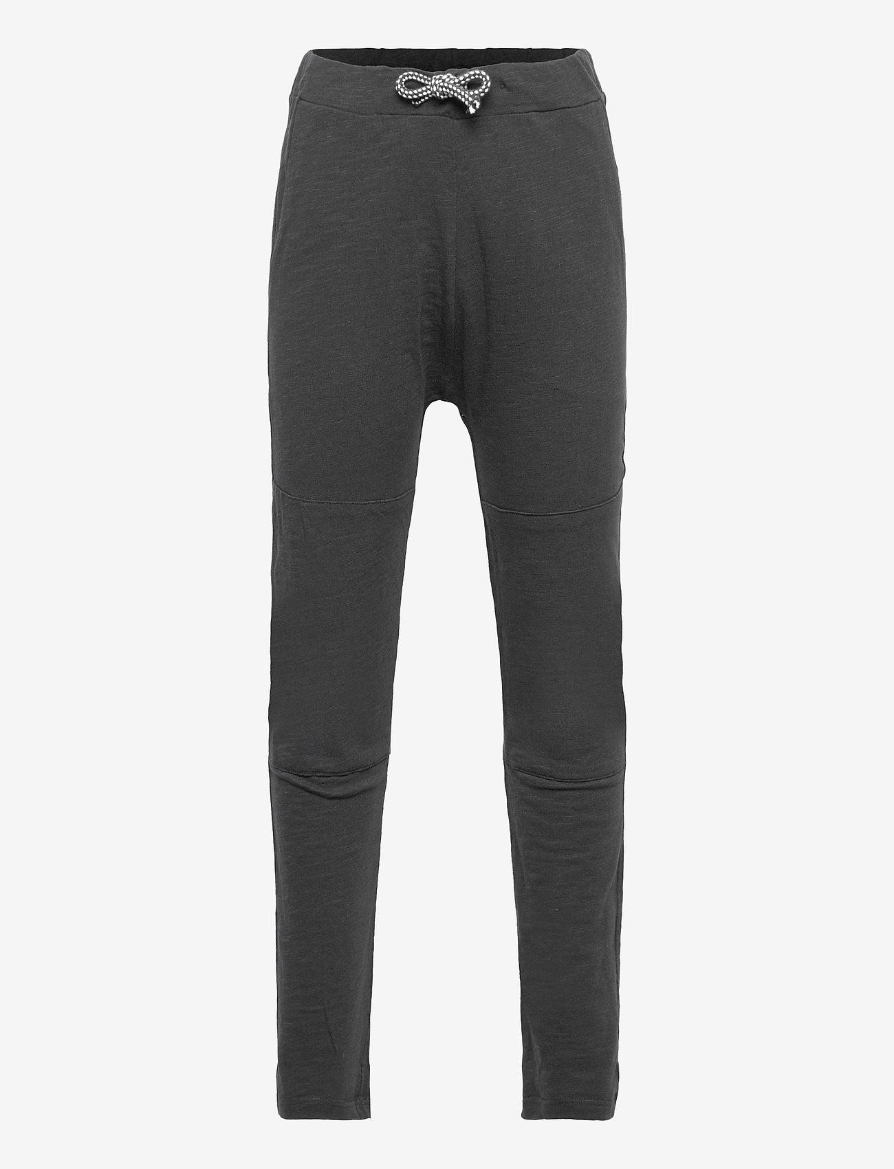 Lindex - Thin slub trousers   knee - sweatpants - black - 0