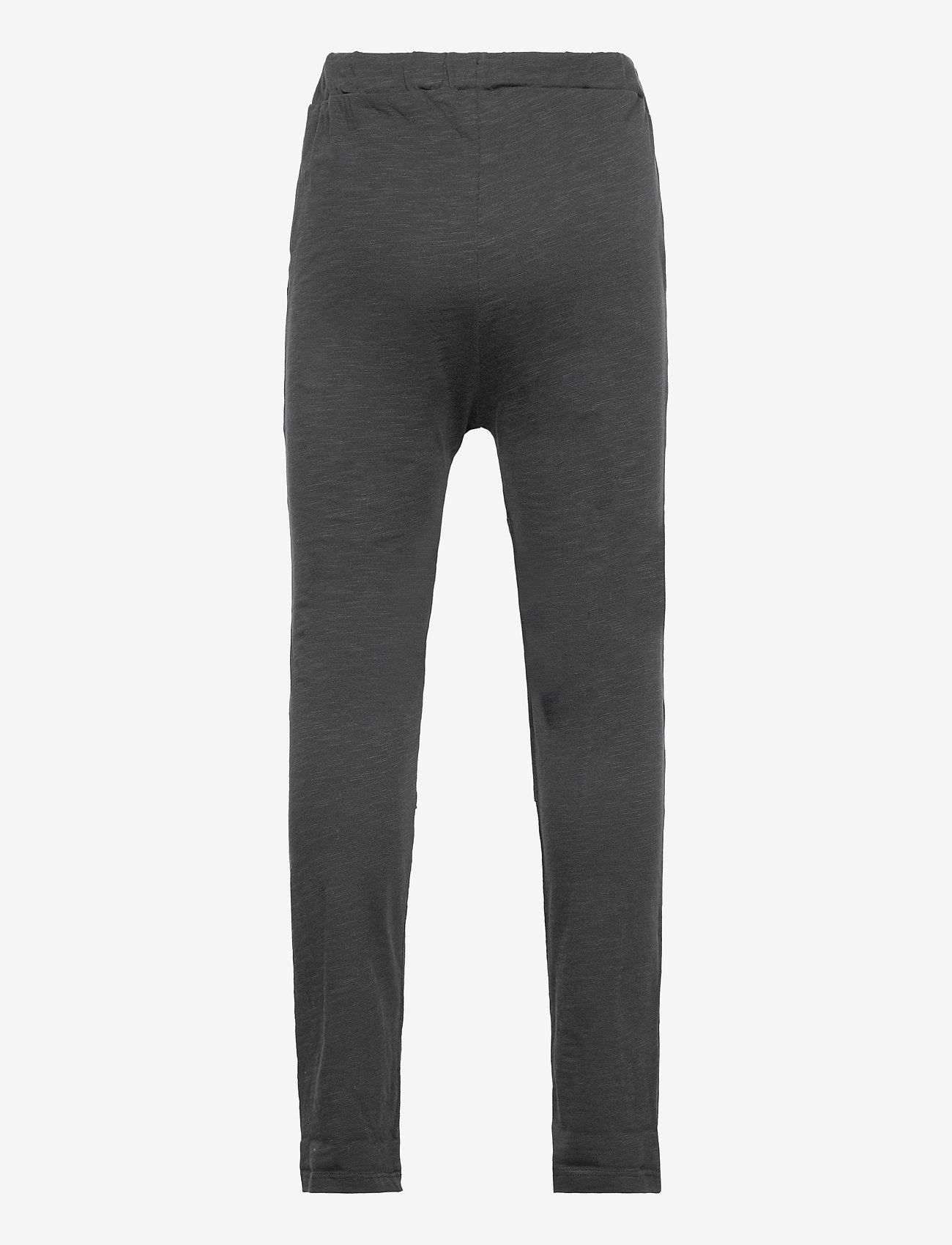 Lindex - Thin slub trousers   knee - sweatpants - black - 1
